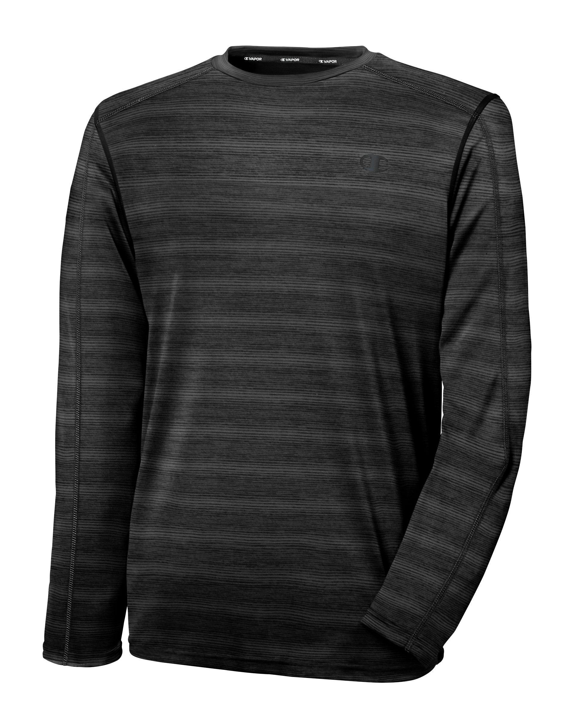 217eeaf9 Champion Mens Vapor Powertrain Heathered Long Sleeve T Shirt