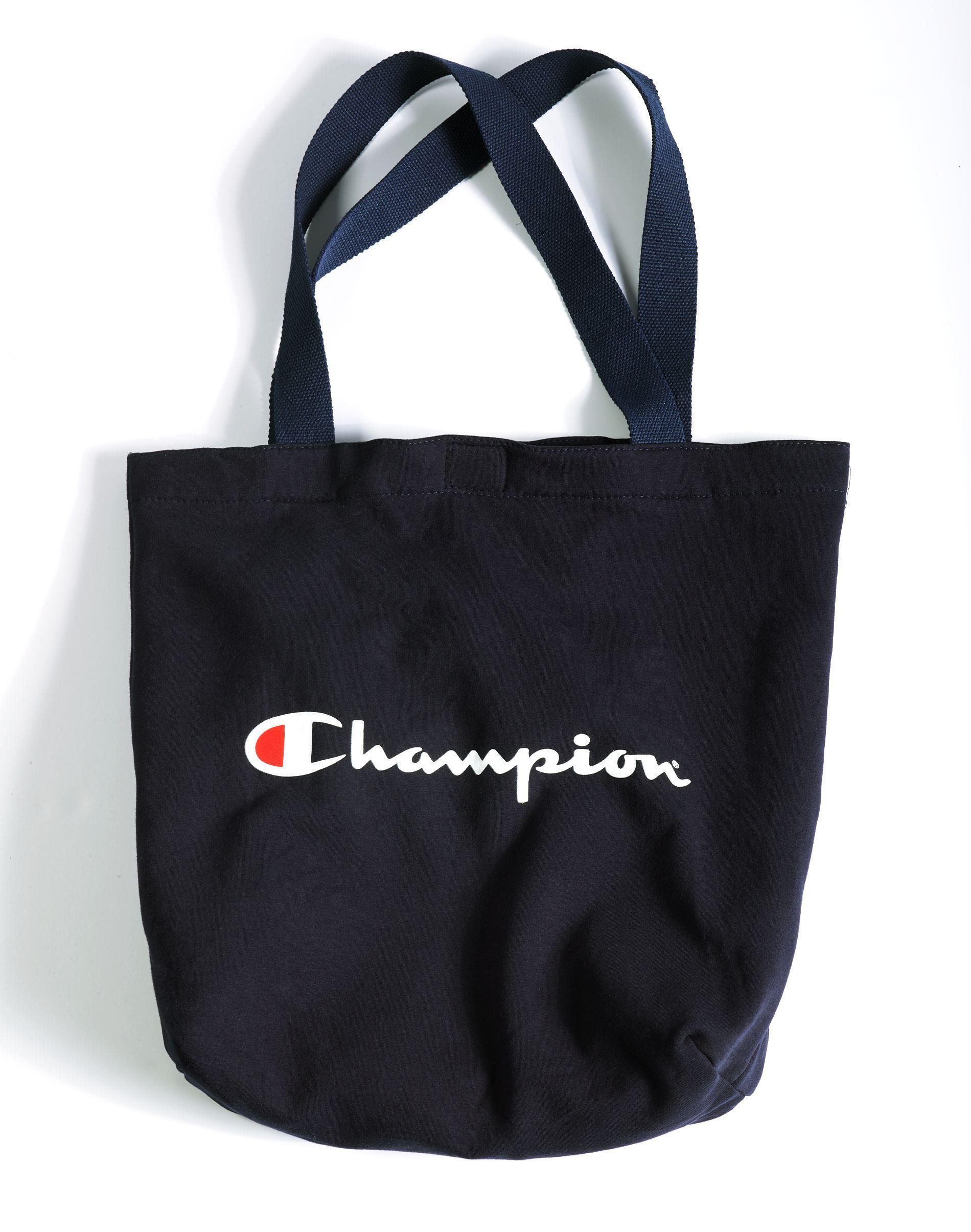 7b8b1b7de Champion Script Heavyweight Fleece Tote Bag in Blue - Lyst