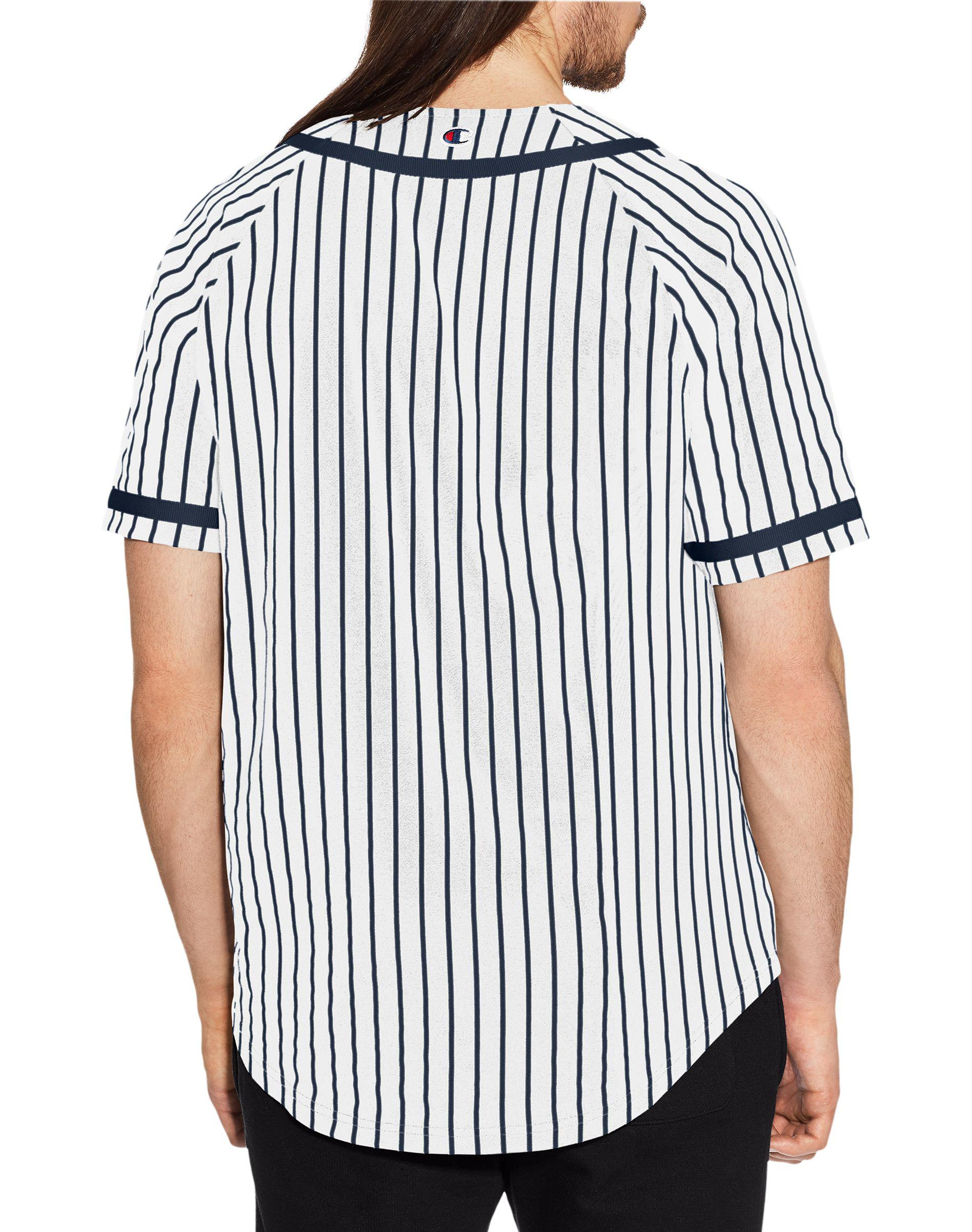 426214dedd92 Champion Life® Stripe Braided Baseball Jersey in Blue for Men - Lyst