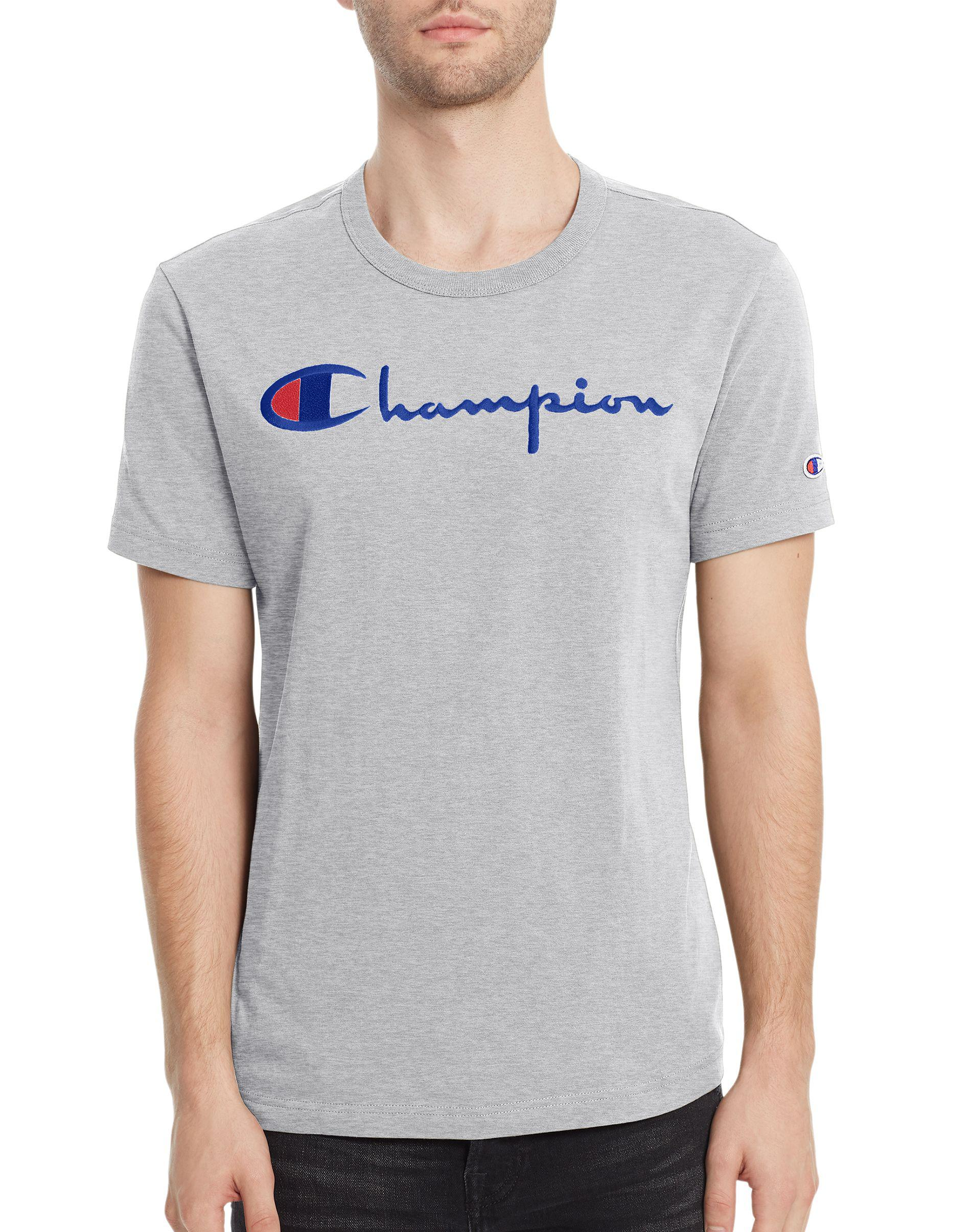 064bf7c6 Champion Europe Script Logo Tee—limited Edition in Gray for Men - Lyst