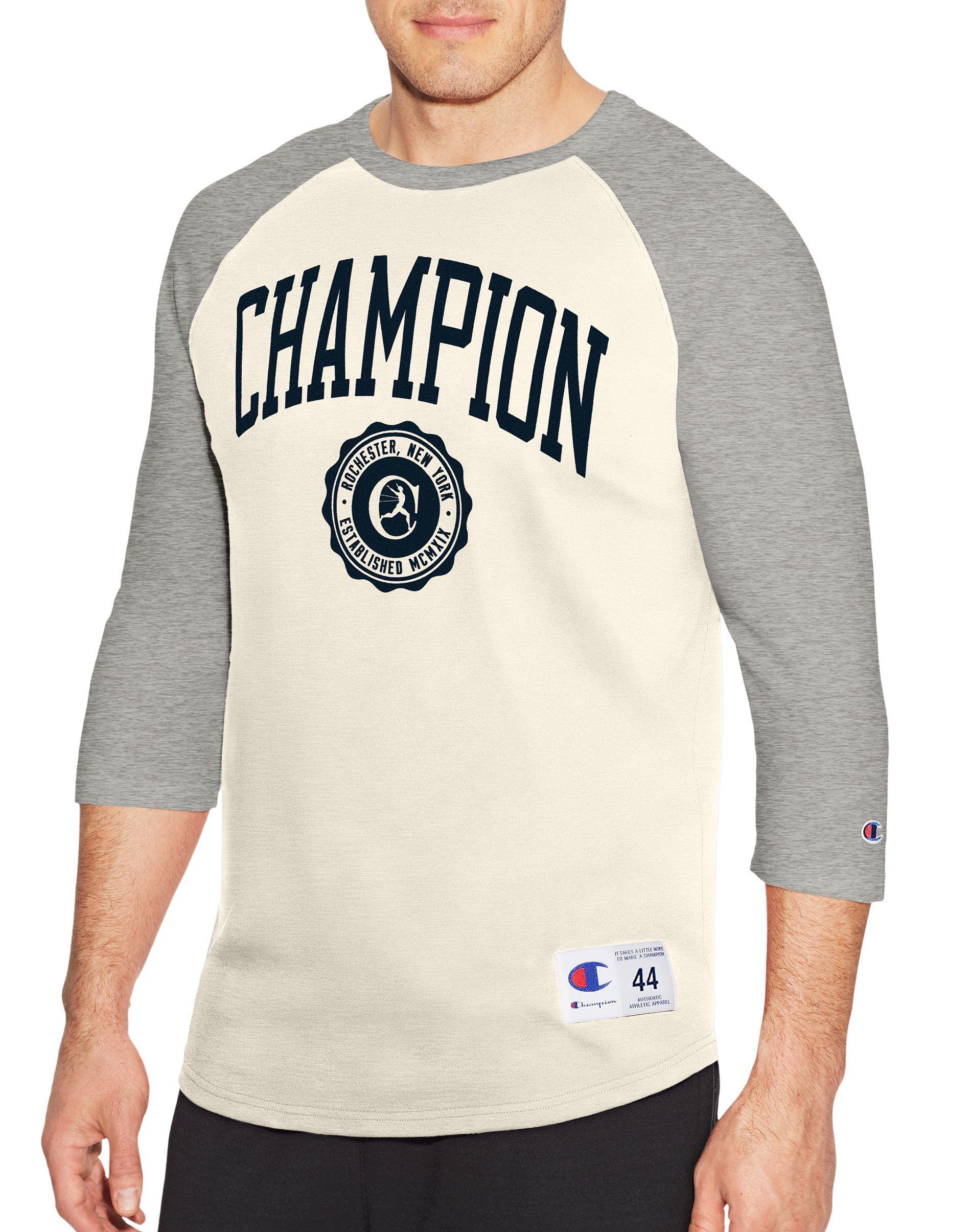 Lyst Champion Heritage Baseball Slub Tee Collegiate