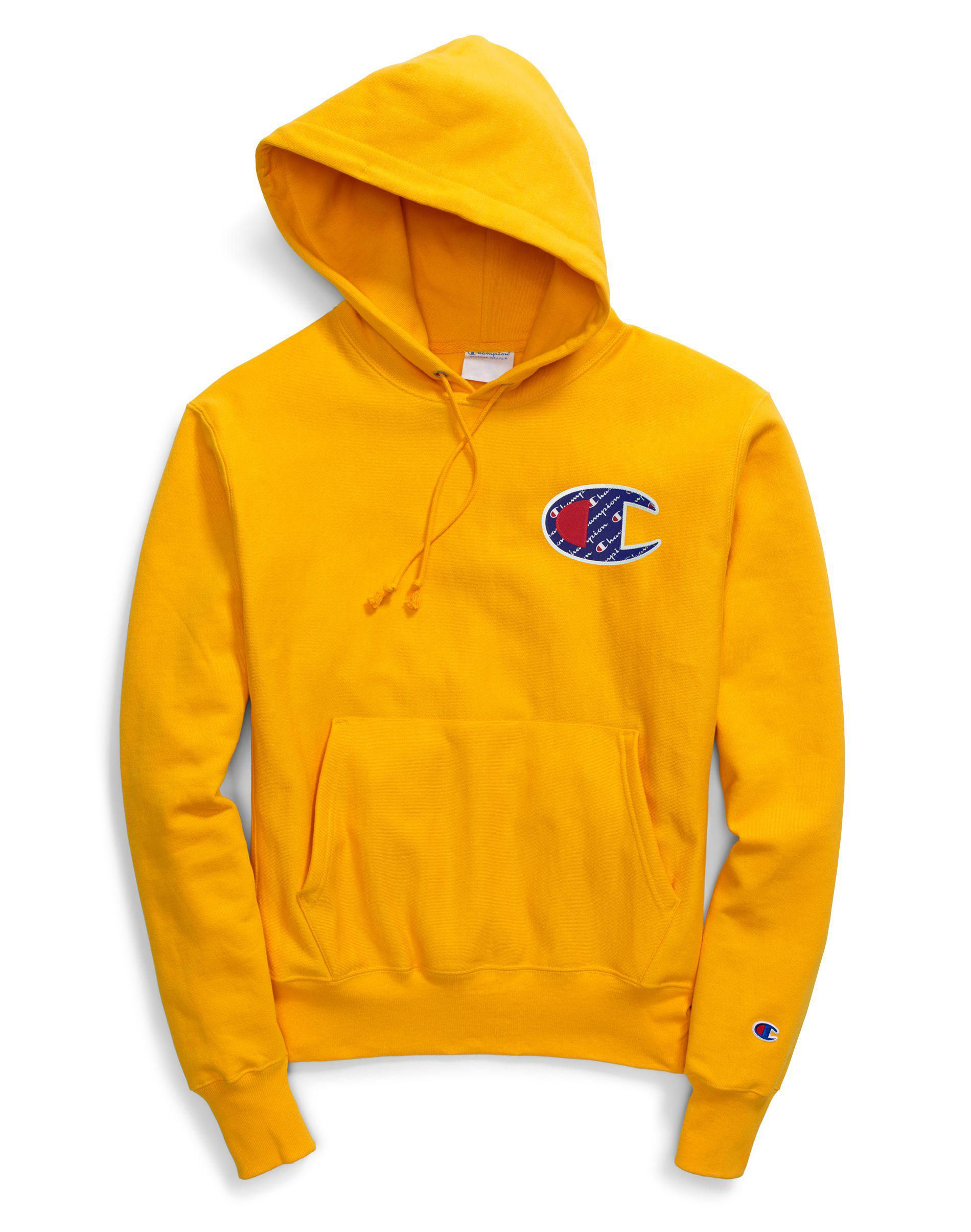 a3d0f5ab3 Champion. Men s Yellow Life® Reverse Weave® Pullover Hood