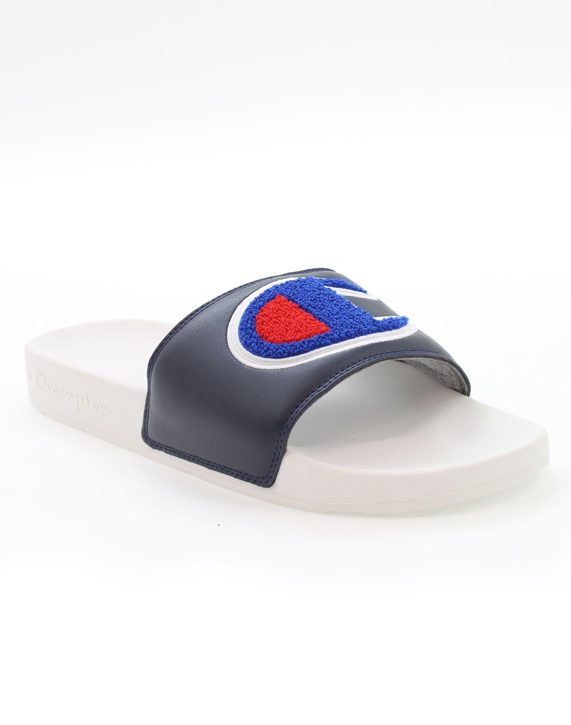 fef04480a09e Lyst - Champion Life® Navy white Slide Sandals