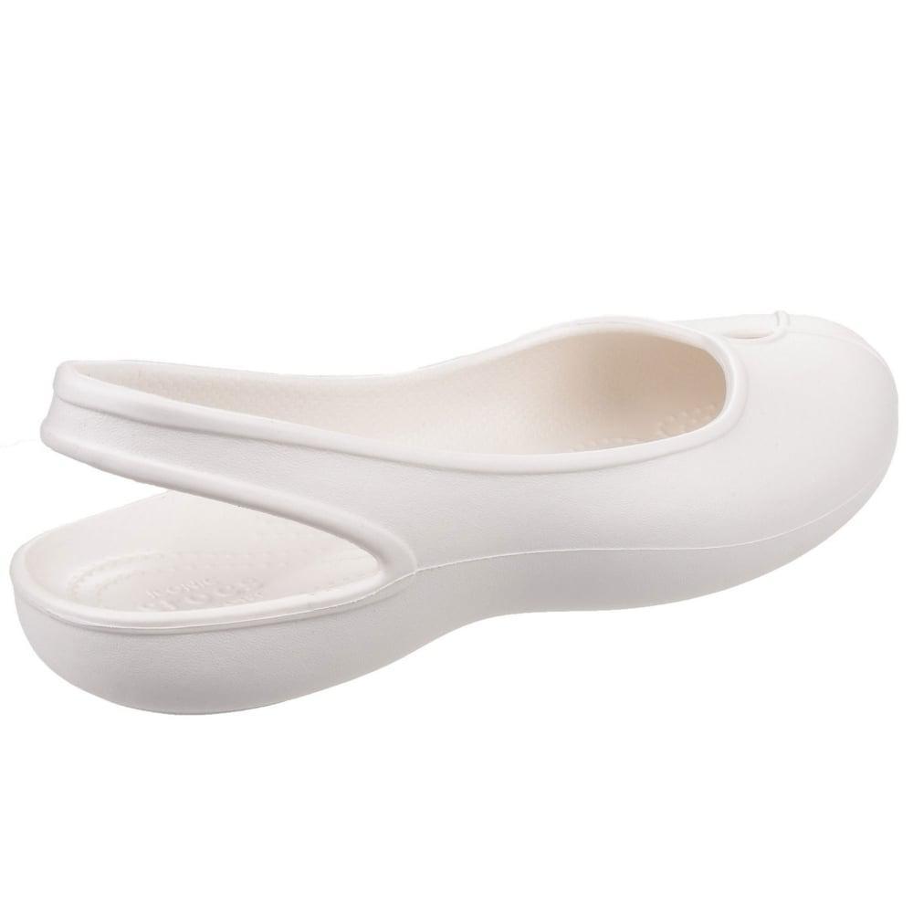 93a5885b022a8 Lyst - Crocs™ Olivia Ii Flat Womens Slip On Shoes in White