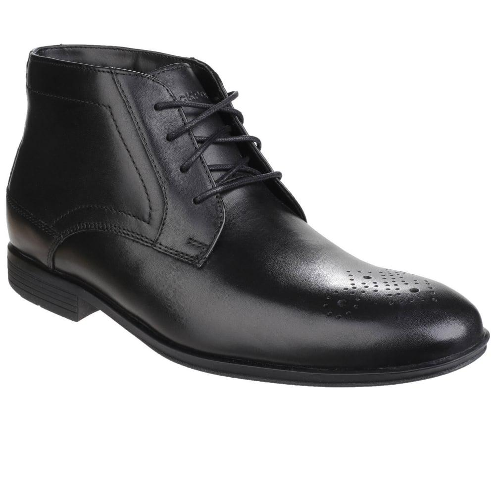 Rockport Style Connected Mens Lace Up Chukka Boots In Black For Men