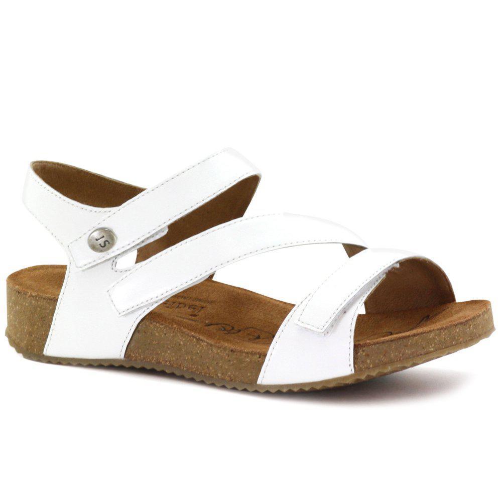 f4790232805b Josef Seibel Tonga 25 Womens Leather Sandals in White - Lyst