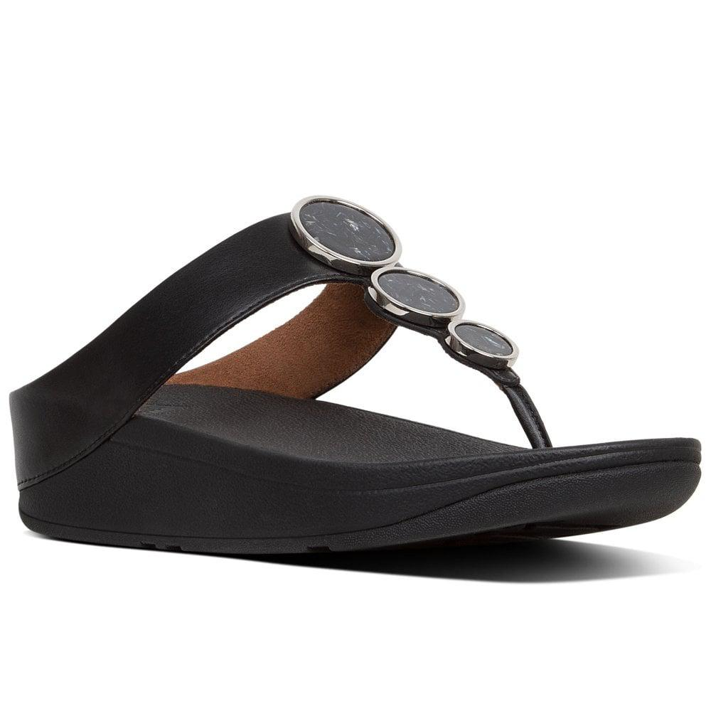 9259bc4a2091 Lyst - Fitflop Halo Womens Toe Post Sandals in Black