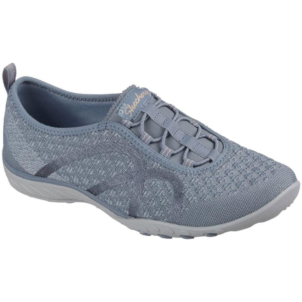 Lyst - Skechers Breathe Easy Fortune-knit Womens Shoes in Blue 528f3690b9