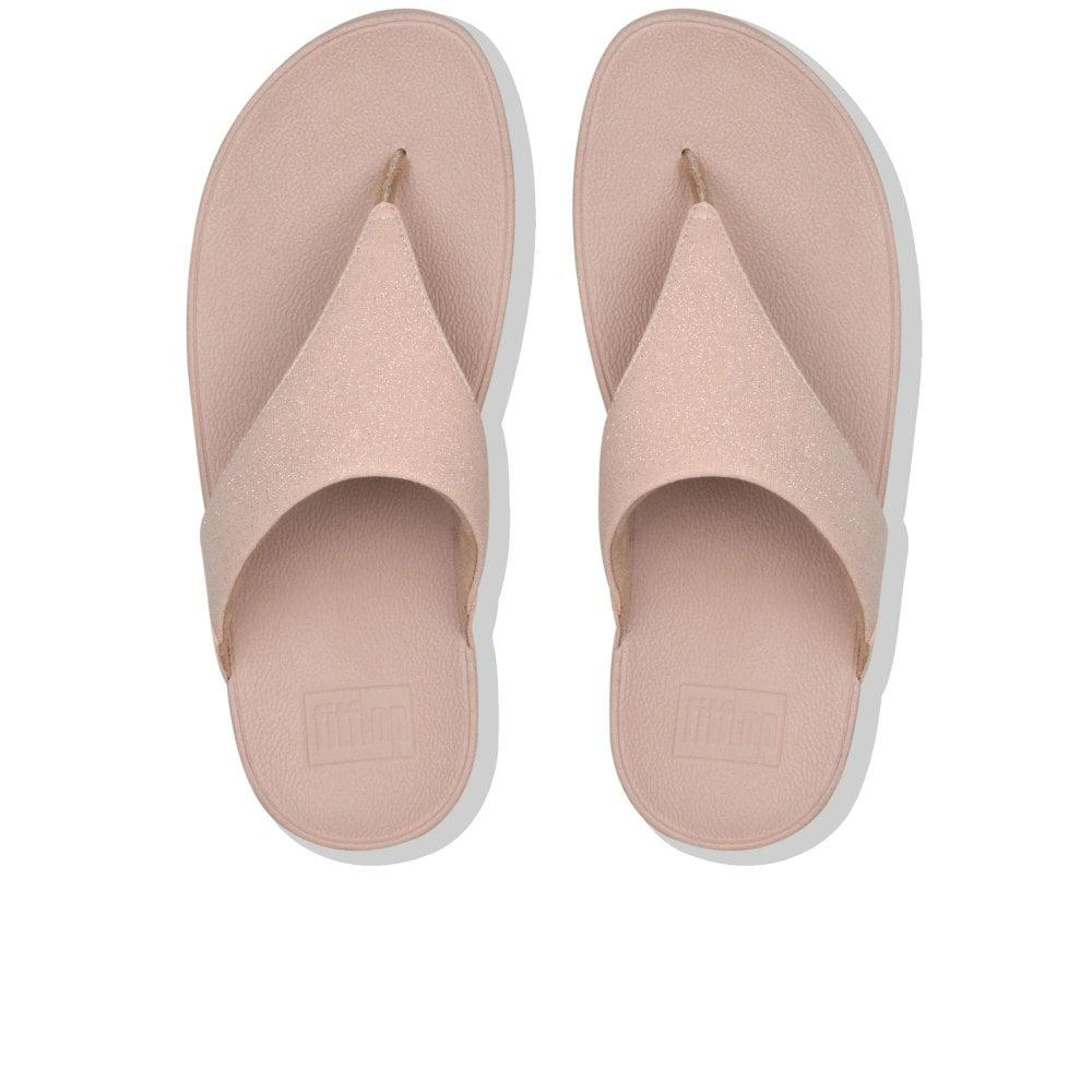 626acc9c28dae1 Fitflop - Pink Lulu Shimmer Womens Toe Post Sandals - Lyst. View fullscreen