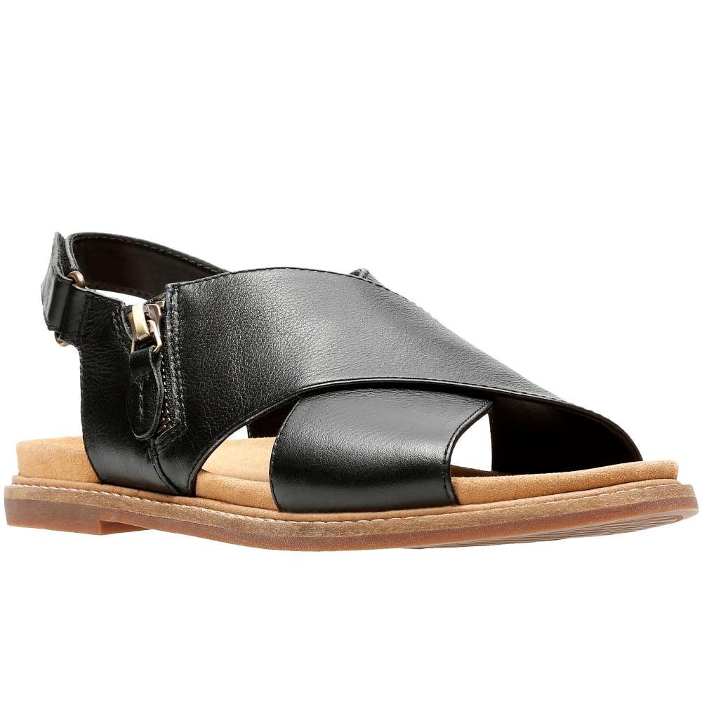 89103fc251e0 Clarks Corsio Calm Womens Slingback Sandal in Black - Lyst