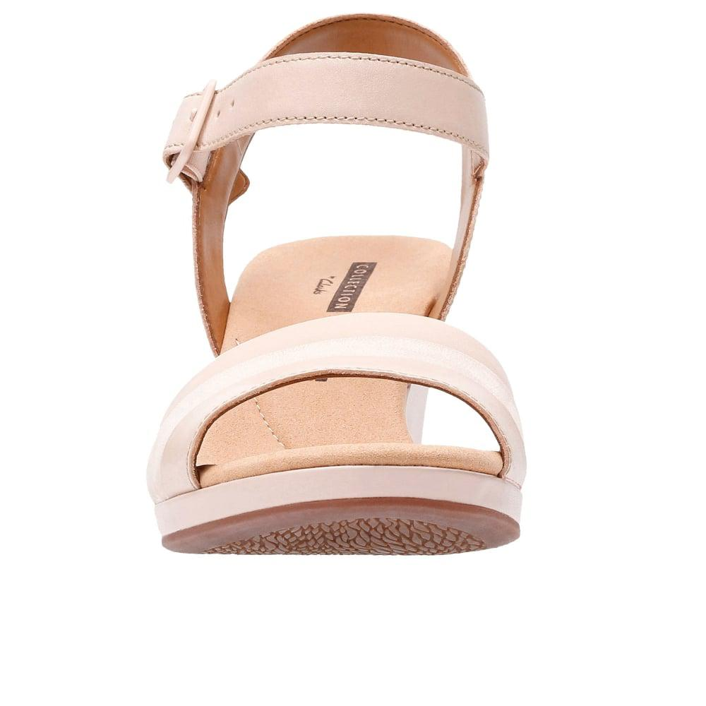 681020f1380 Lyst - Clarks Lafely Aletha Wedge Sandals in Pink