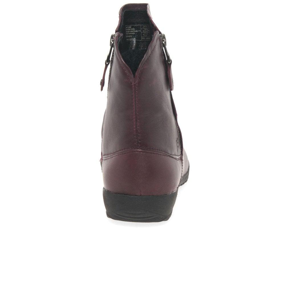 24ece53bde5f Josef Seibel - Purple Naly 24 Womens Ruched Leather Twin Zip Ankle Boots -  Lyst. View fullscreen