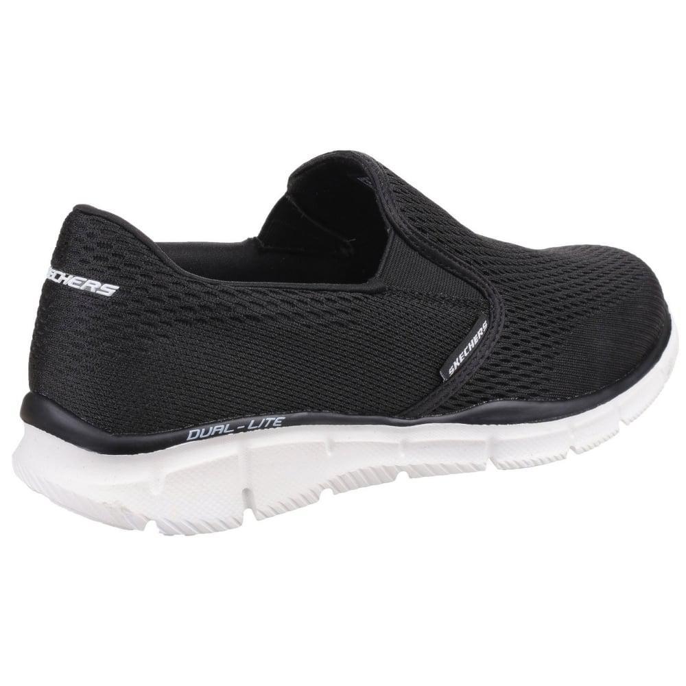 6d942d7337cd Skechers - Black Equalizer Double Play Mens Slip On Sports Shoes for Men -  Lyst. View fullscreen