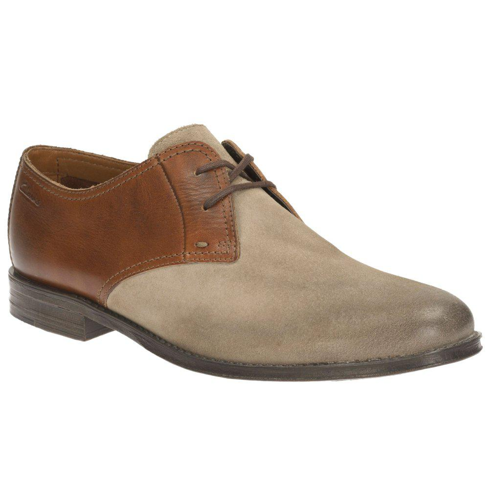 Clarks. Brown Hawkley Walk Mens Formal Lace Up Shoes