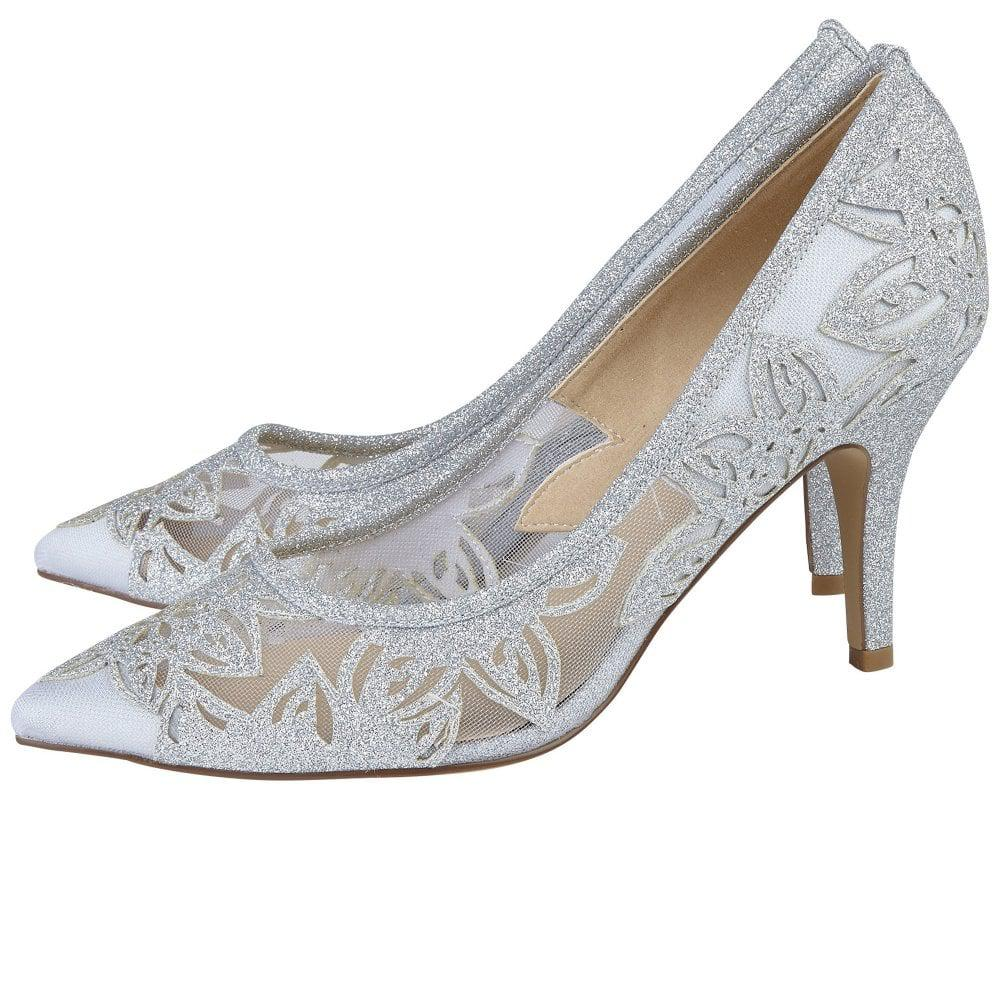 Groove Silver Dress Court Shoes Lotus VgCQ8B5