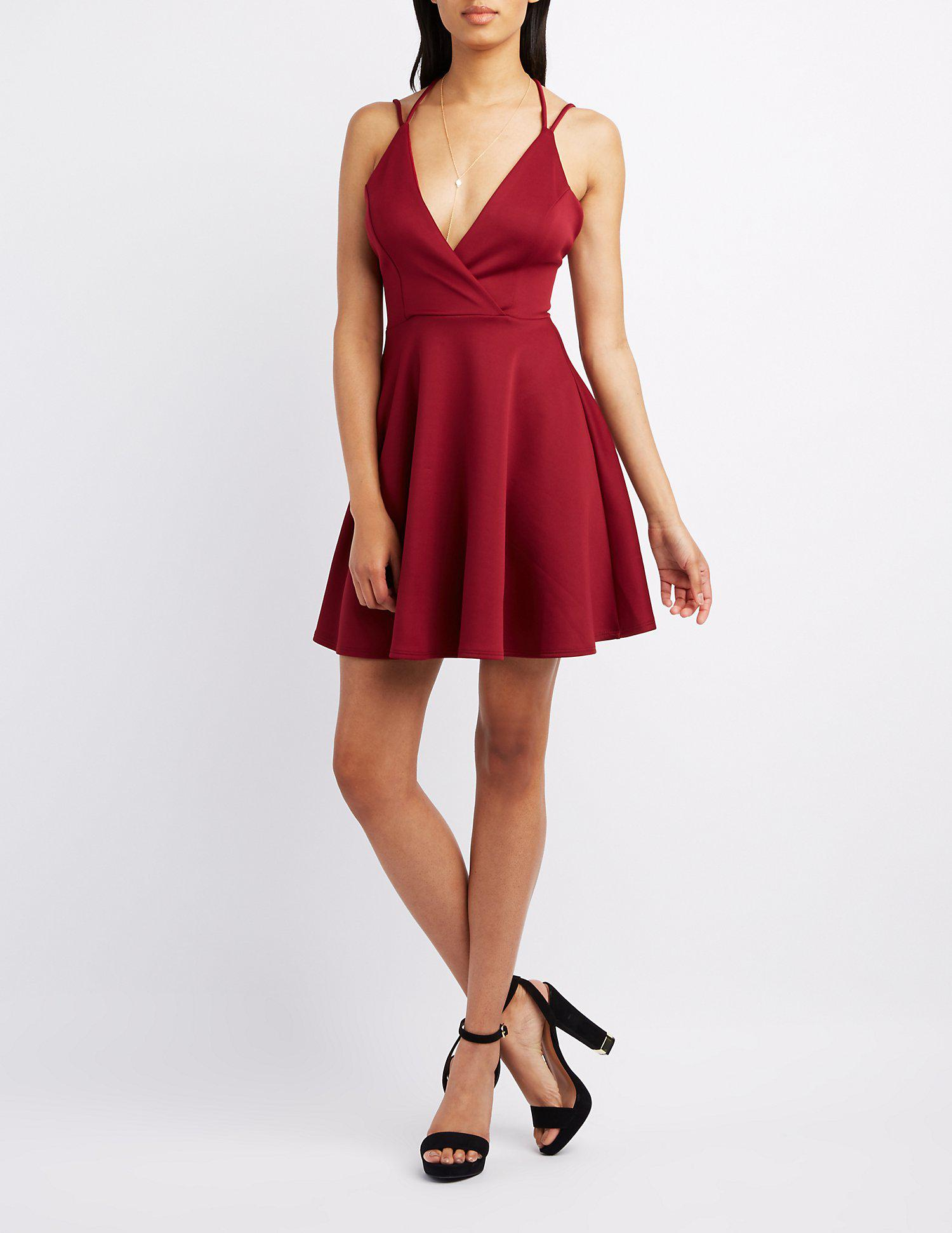 dafd2d36aa Gallery. Previously sold at  Charlotte Russe · Women s Skater Dresses