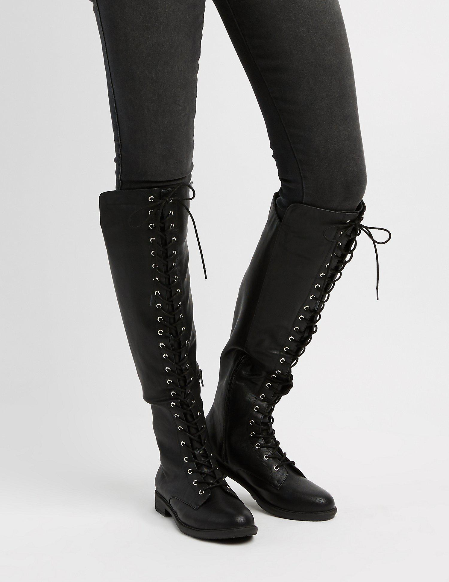 92d6c7482ff982 Gallery. Previously sold at  Charlotte Russe · Women s Combat Boots ...