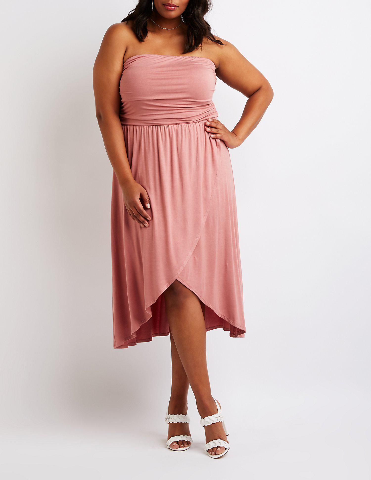 Lyst - Charlotte Russe Plus Size Wrap Maxi Dress in Purple
