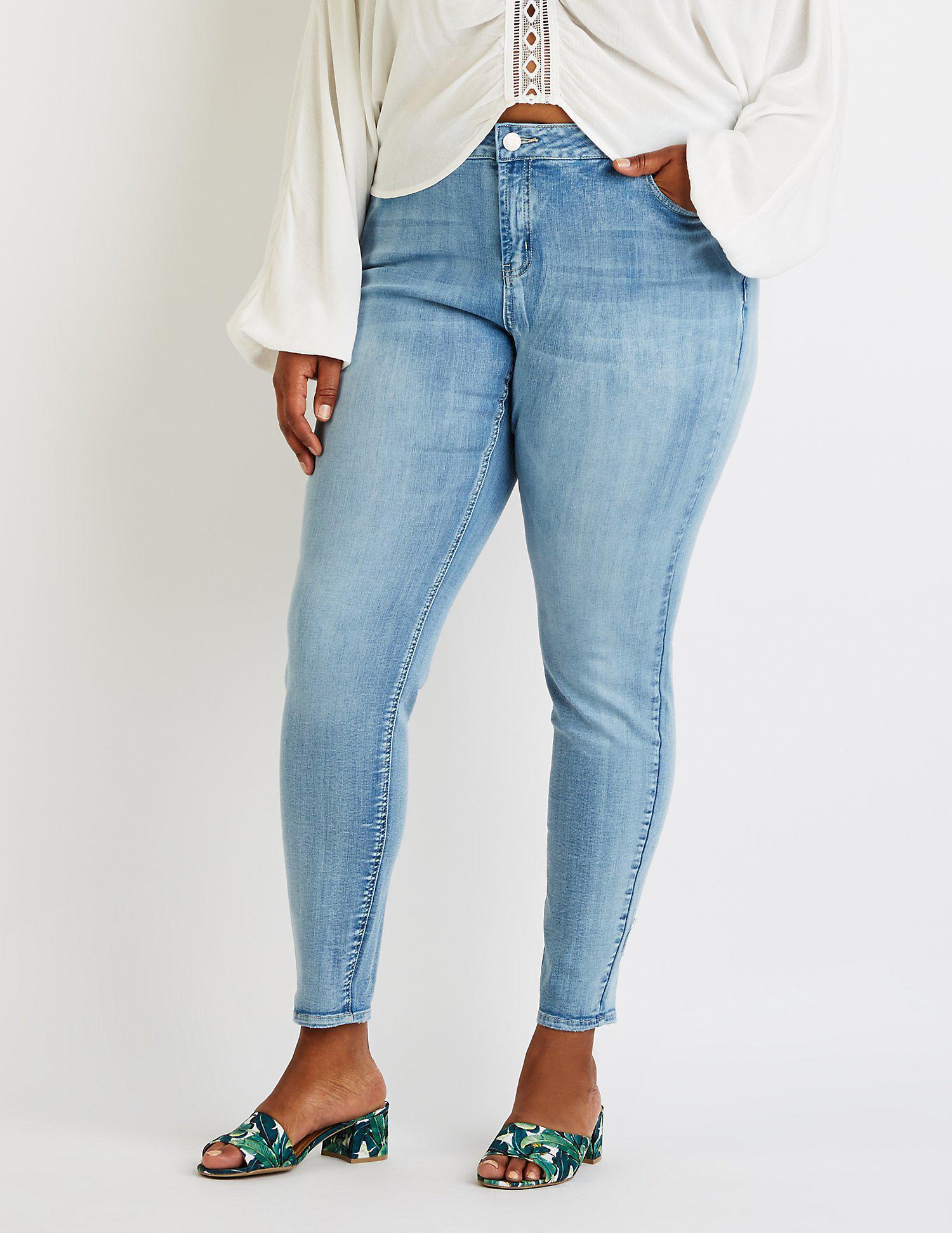 787dd1957 Lyst - Charlotte Russe Plus Size Refuge Destroyed Boyfriend Jeans in ...