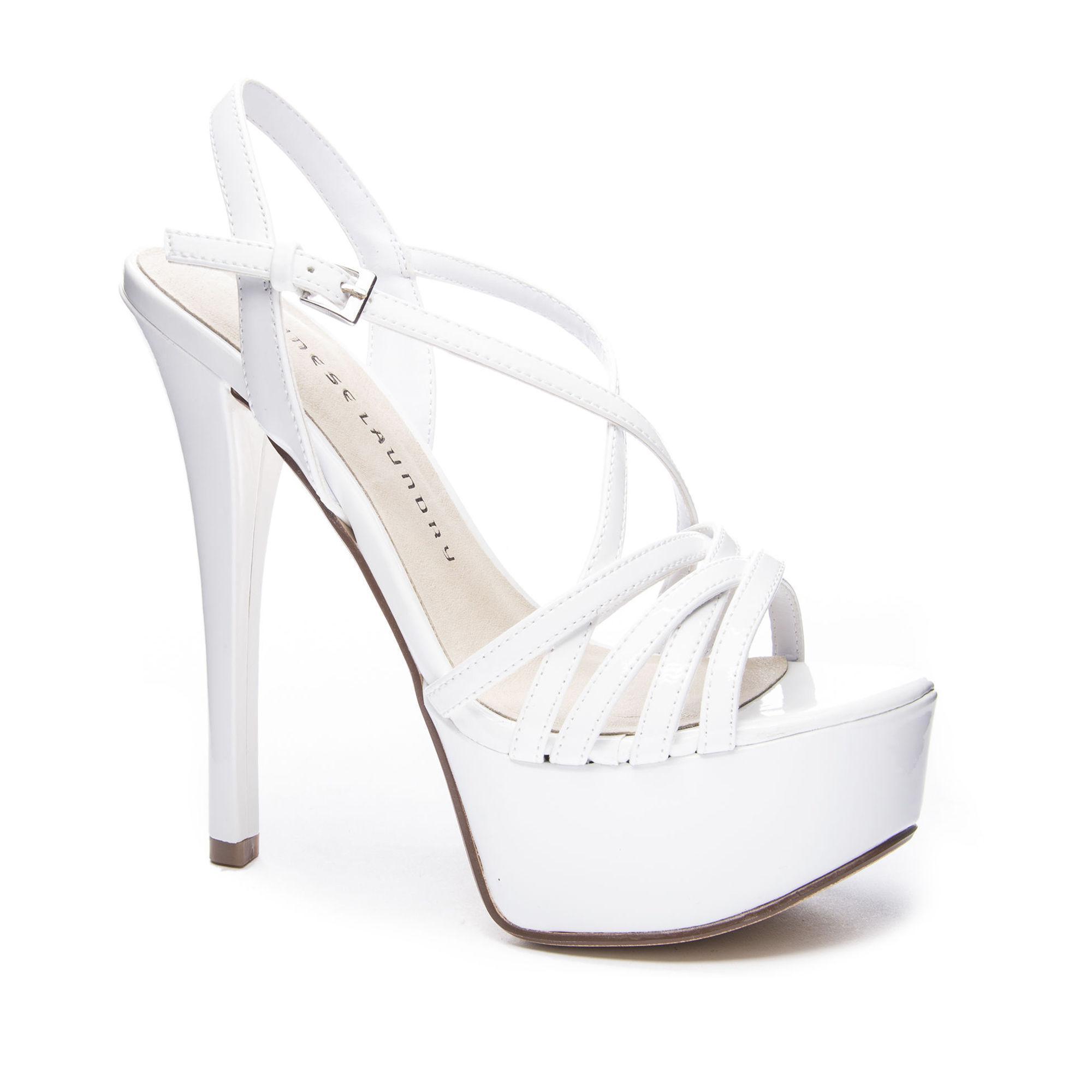 9e98f0405b8 Lyst - Chinese Laundry Teaser Platform Sandal in White