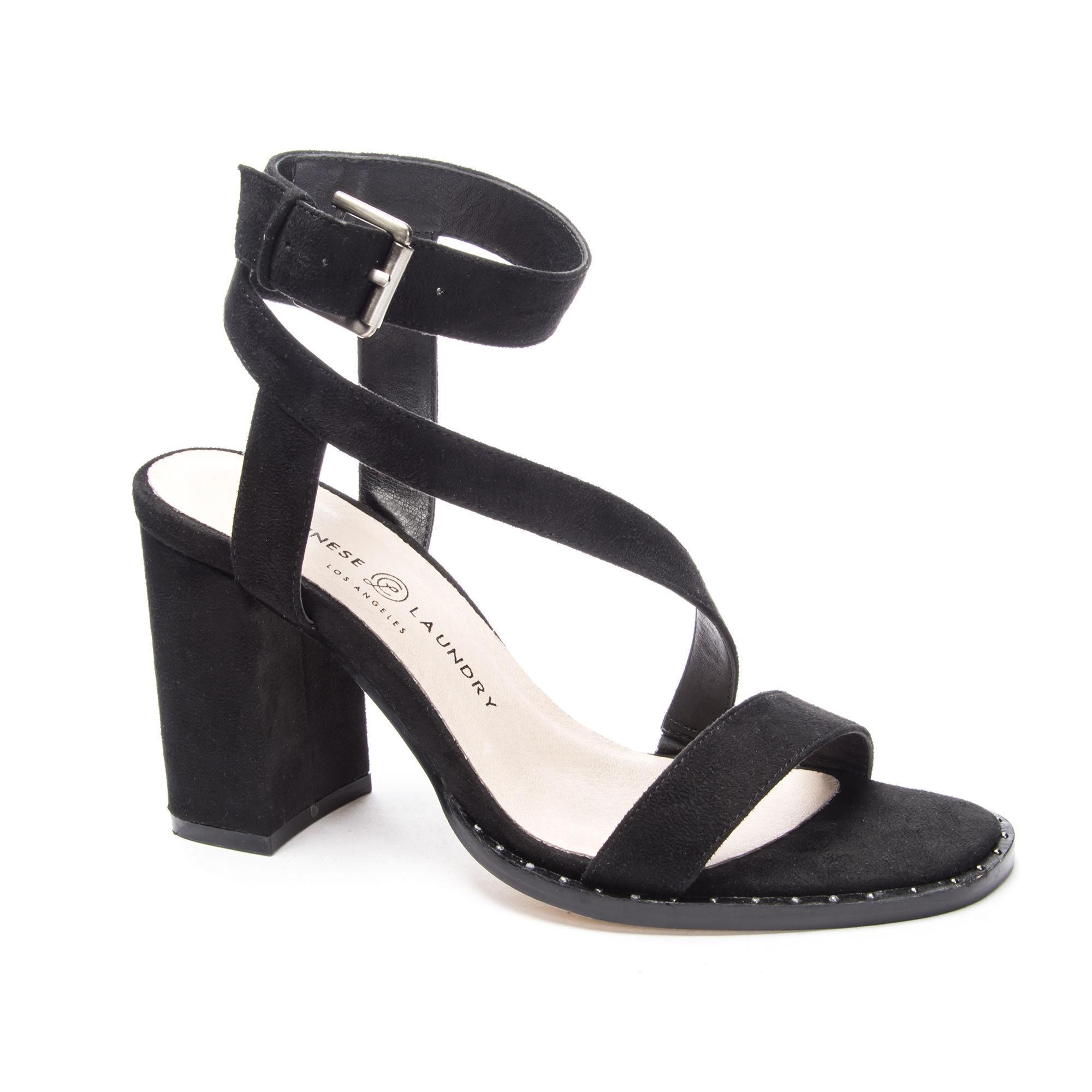b390e46cf9a7 Lyst - Chinese Laundry Simi Block Heel Sandal in Black
