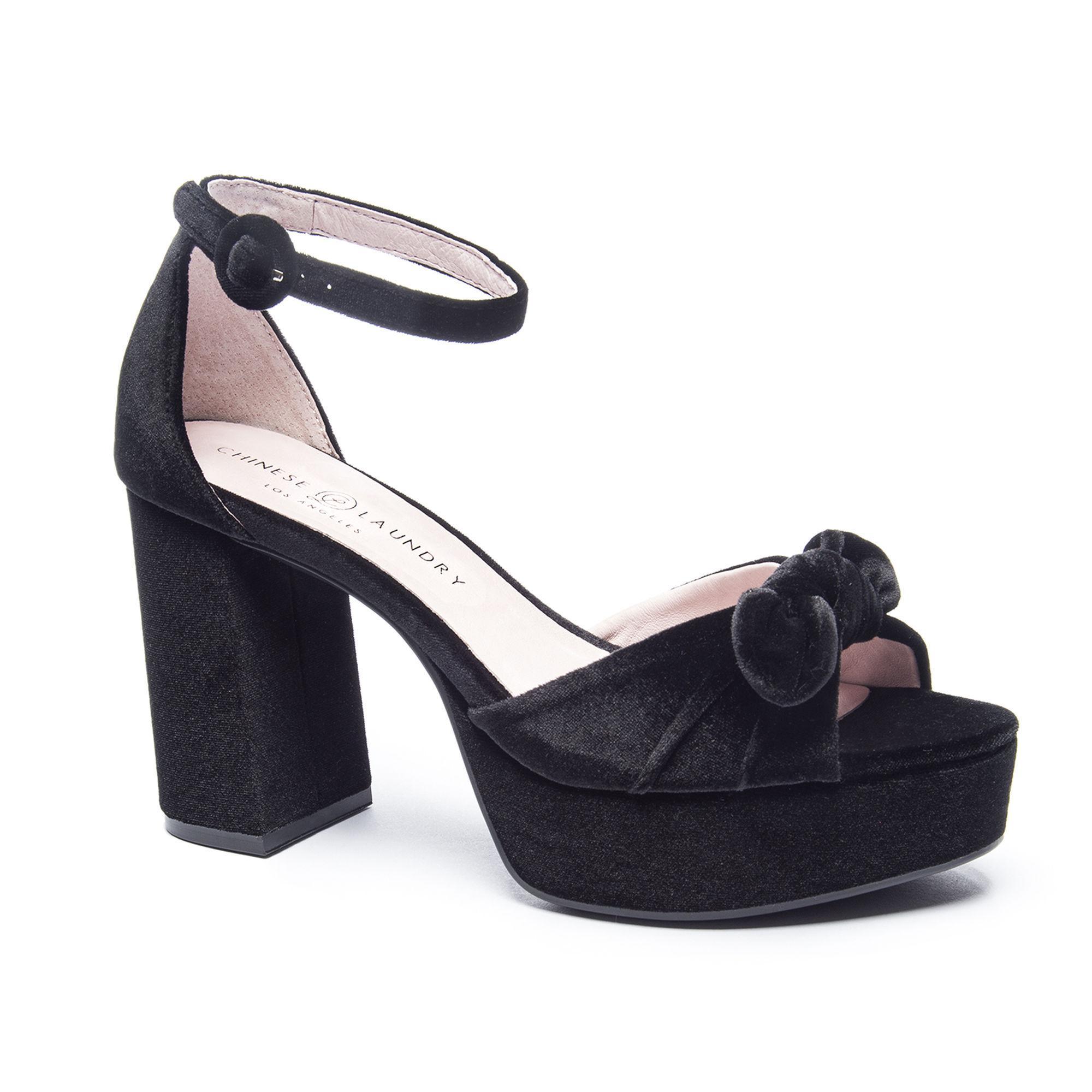 775bc225b21 Lyst - Chinese Laundry Tina Velvet Platform Sandal in Black