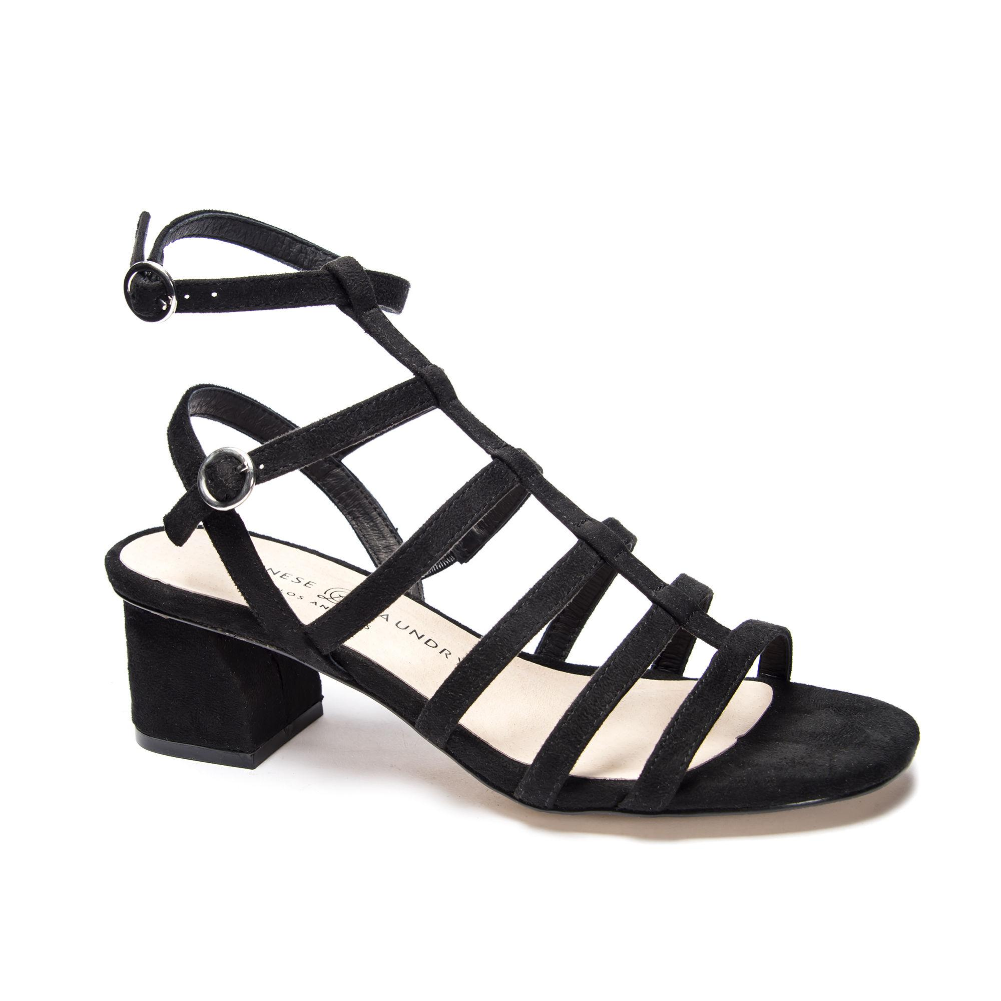 432b7c2e281 Lyst - Chinese Laundry Monroe Block Heel Sandal in Black