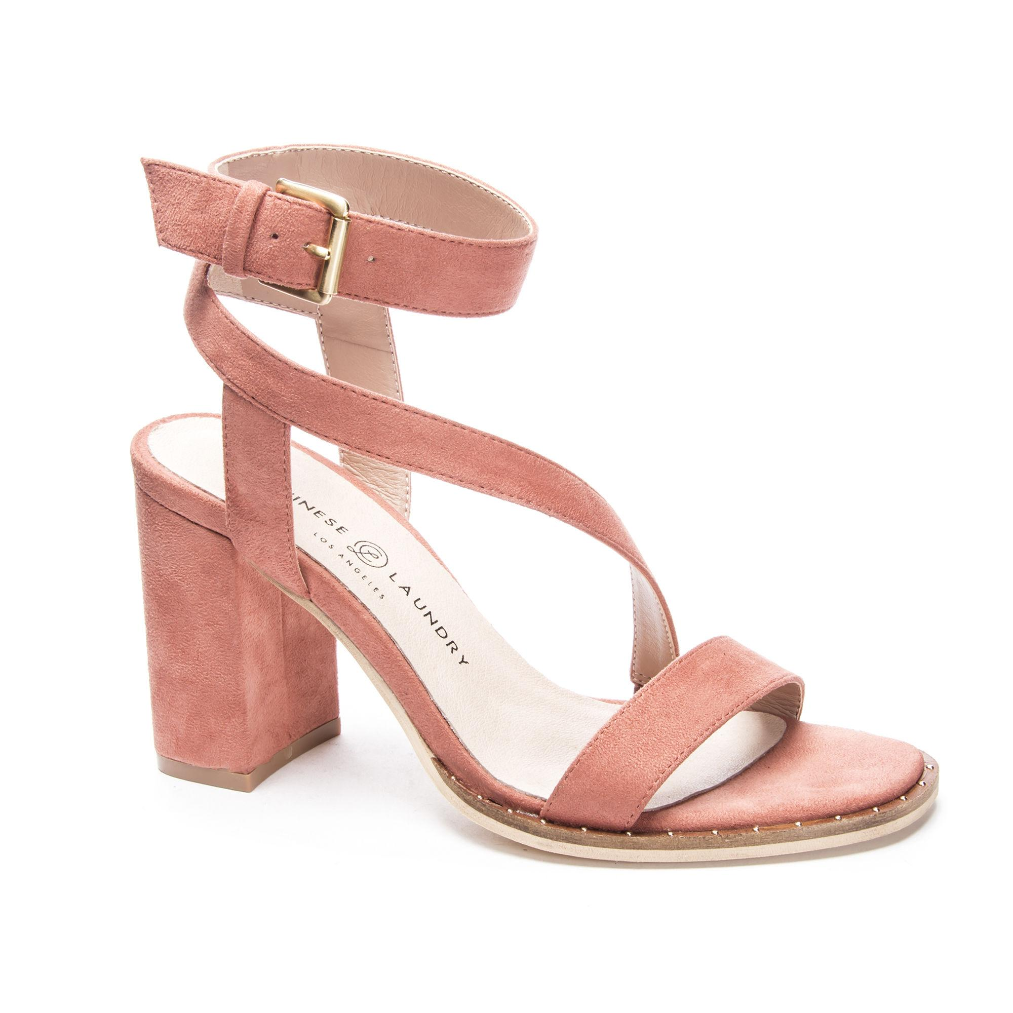 d4f160cdf6d9 Lyst - Chinese Laundry Simi Block Heel Sandal in Pink