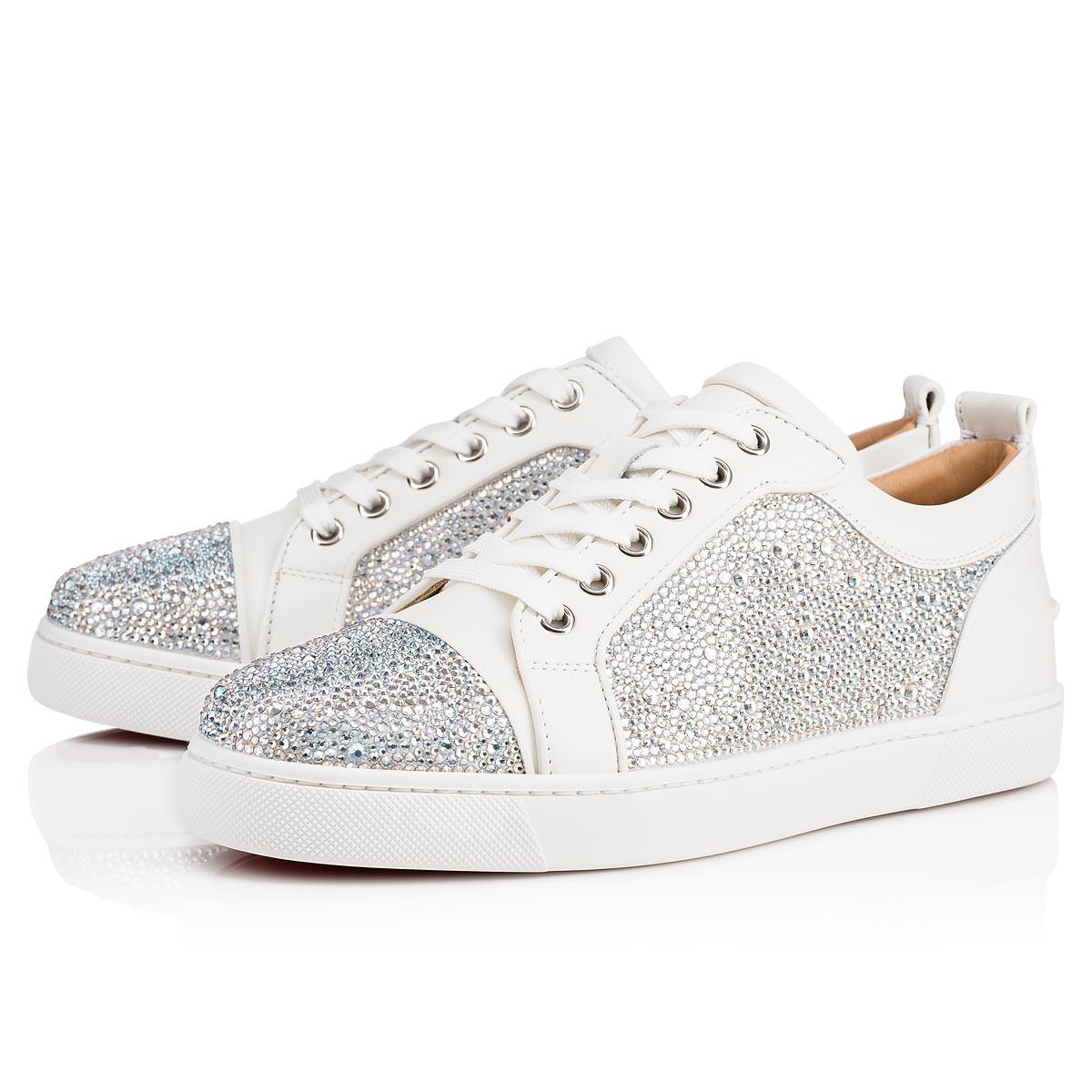 1efbbff48a2 Christian Louboutin Louis Junior Strass Woman Suede/strass Latte ...