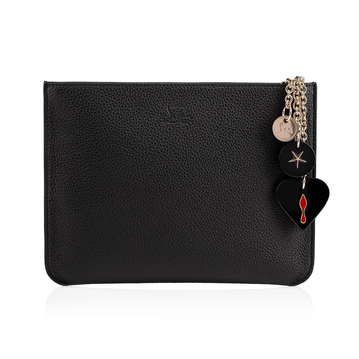 9260d200279 Christian Louboutin Loubicute Black Leather Pouch in Black - Save 9 ...