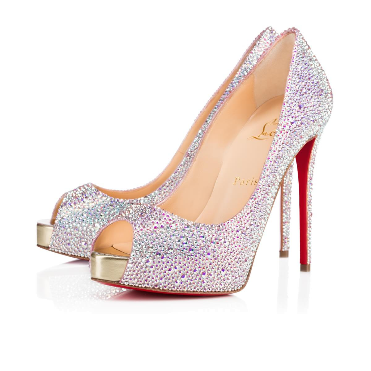 0ae37ed0d42 Lyst - Christian Louboutin New Very Riche Strass in Metallic