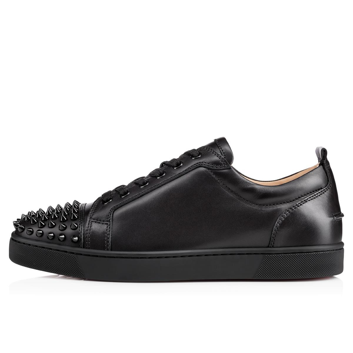 ccd8af21152d Christian Louboutin - Black Louis Junior Spikes Leather Sneakers for Men -  Lyst. View fullscreen