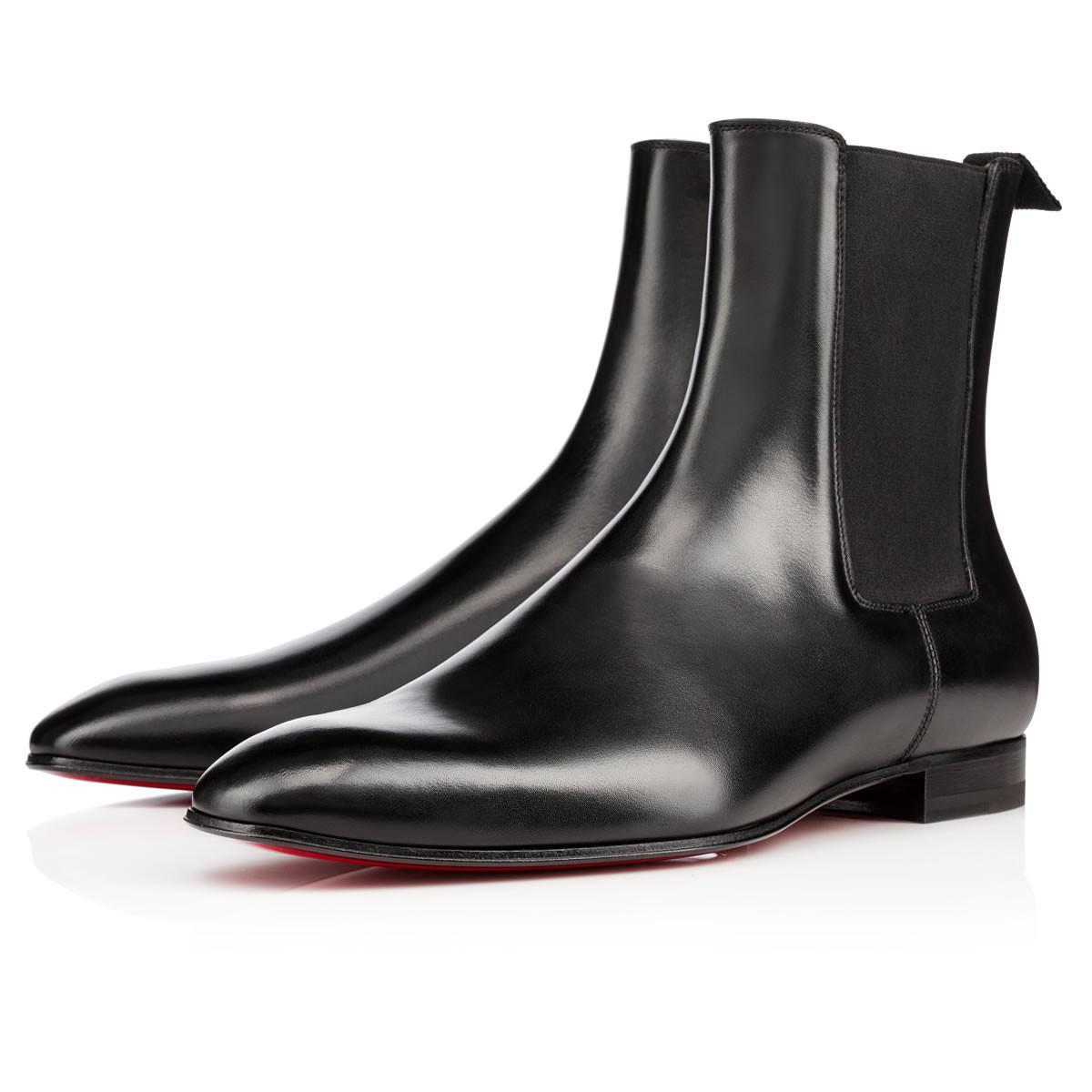 79d53aac422 Christian Louboutin Roadie Calf Black Calfskin in Black for Men - Lyst