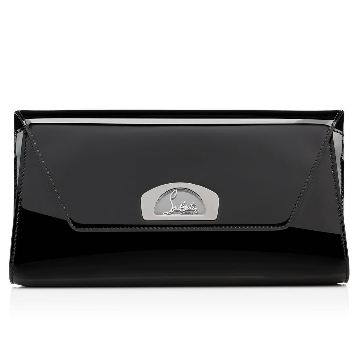 370708dd619f Christian Louboutin Vero-dodat Clutch Black Patent Calfskin in Black ...