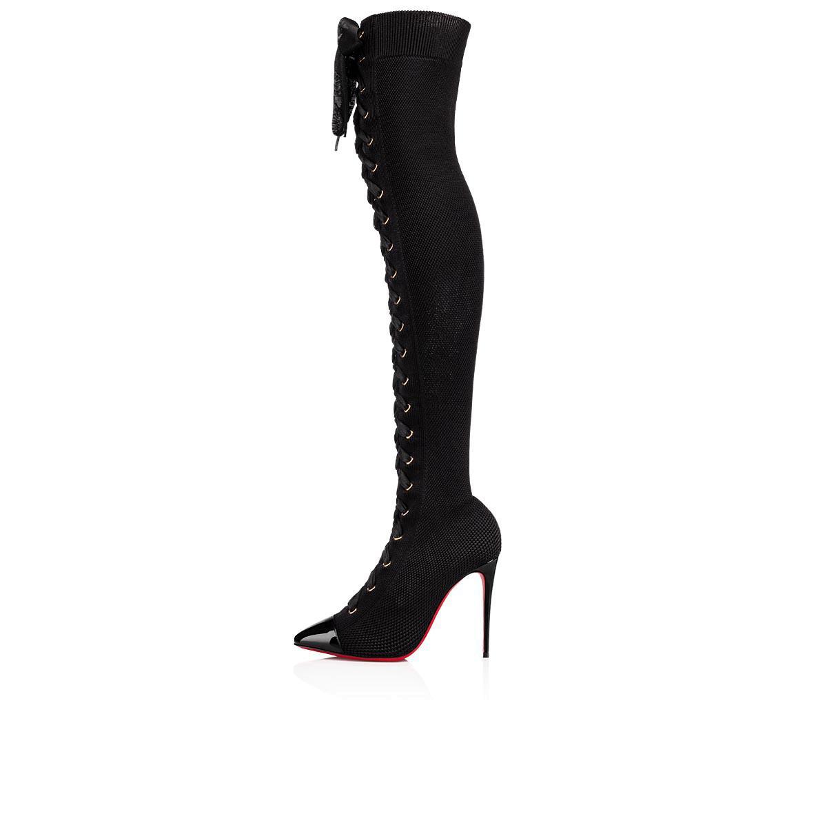 4e36609cf986 Christian Louboutin - Black Frenchie Boot - Lyst. View fullscreen