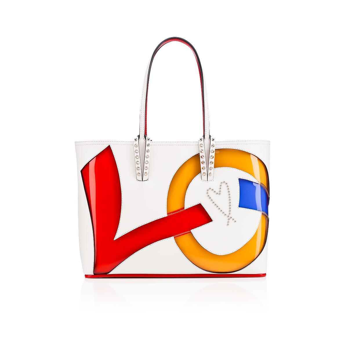 004f9ec3adb Christian Louboutin Cabata Small Love Latte/multi Creative Leather ...