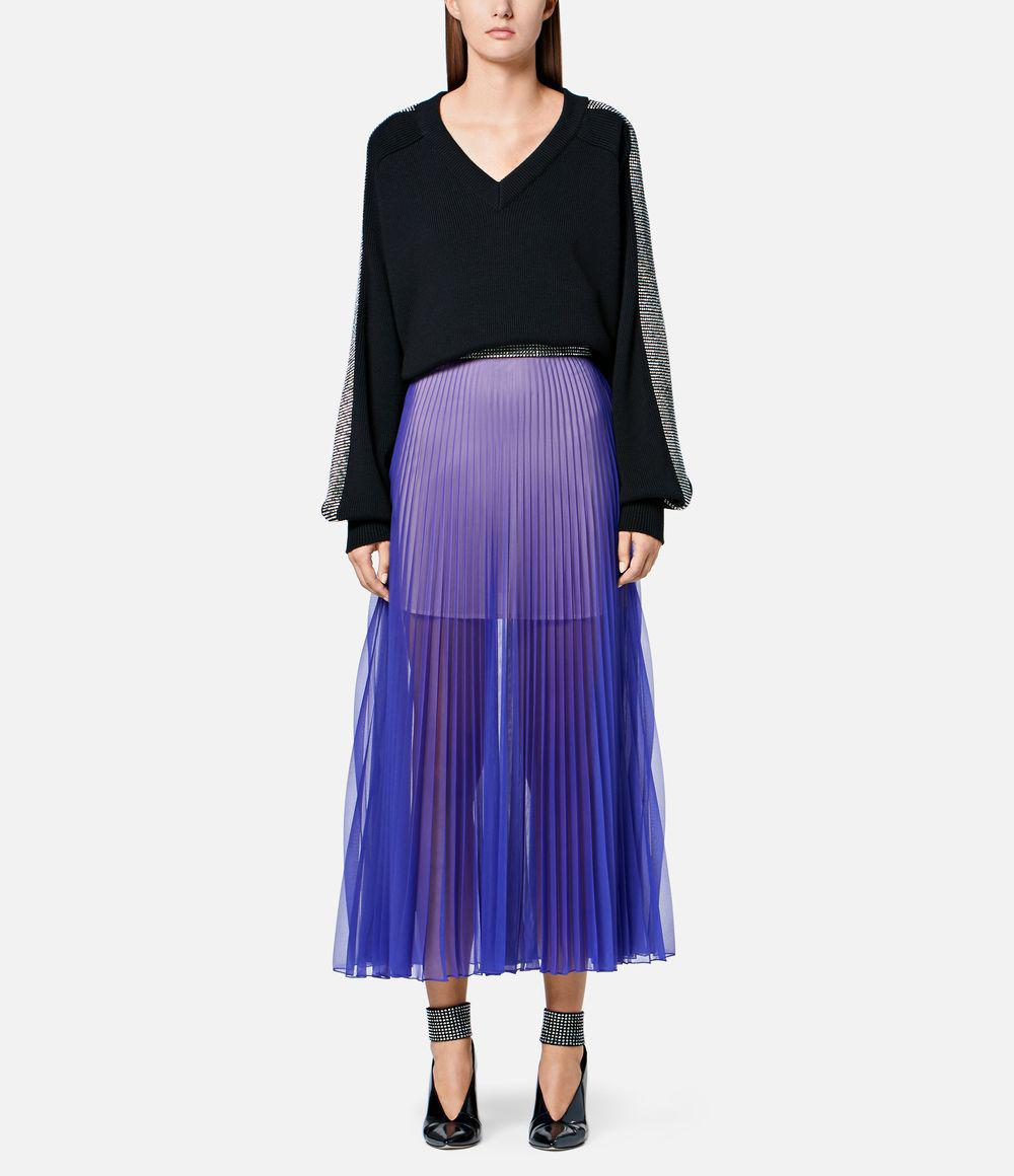 bc451c0fbe Christopher Kane - Purple Crystal Mesh Pleated Skirt - Lyst. View fullscreen