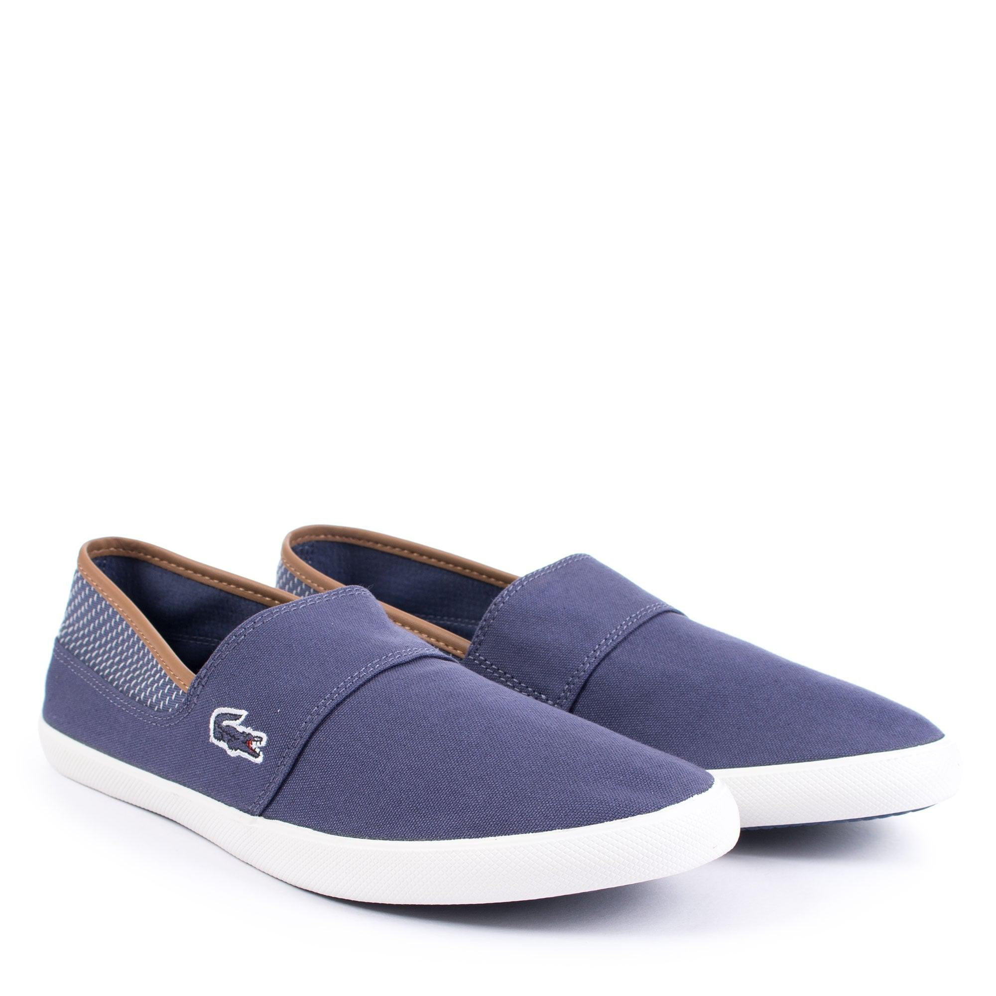 7447c52c8284 Lacoste Marice 118 1 Cam Canvas Slip Ons in Blue - Lyst