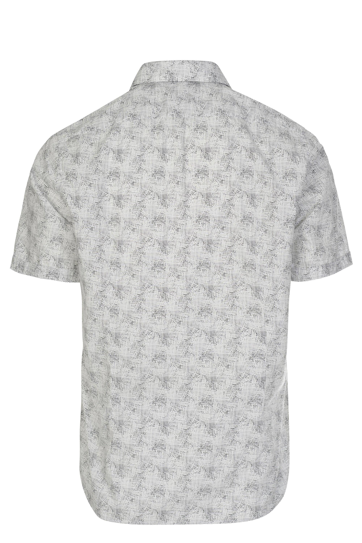 2072cac25 BOSS - White Hugo Luka Linen Shirt for Men - Lyst. View fullscreen