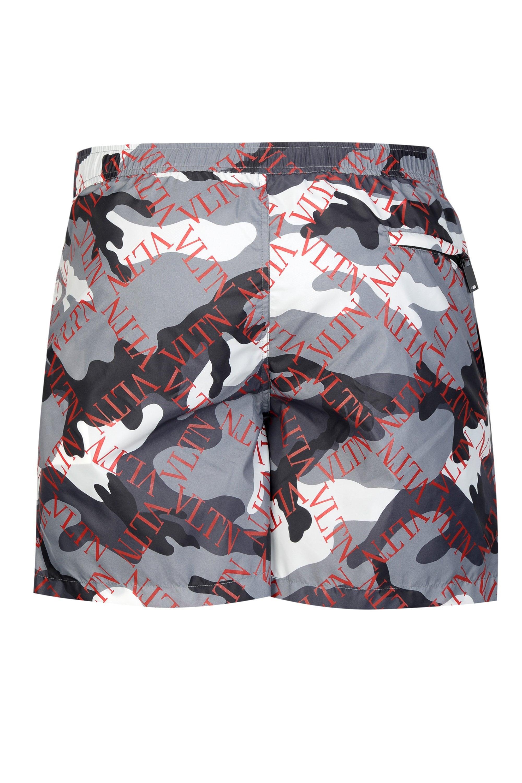 8fb5d89c92 Valentino - Multicolor Vltn Camouflage Swim Shorts for Men - Lyst. View  fullscreen
