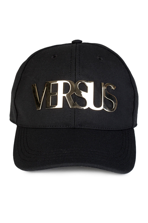 631a6b74191 ... Metallic Gold Versus Logo Baseball Cap for Men - Lyst. View fullscreen