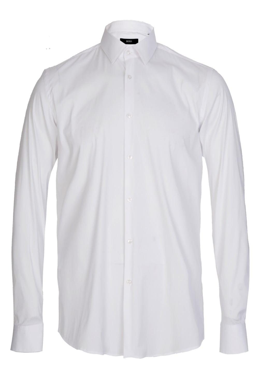 bbce9df98 BOSS Hugo Isko Slim Fit Stretch Cotton Shirt White in White for Men ...