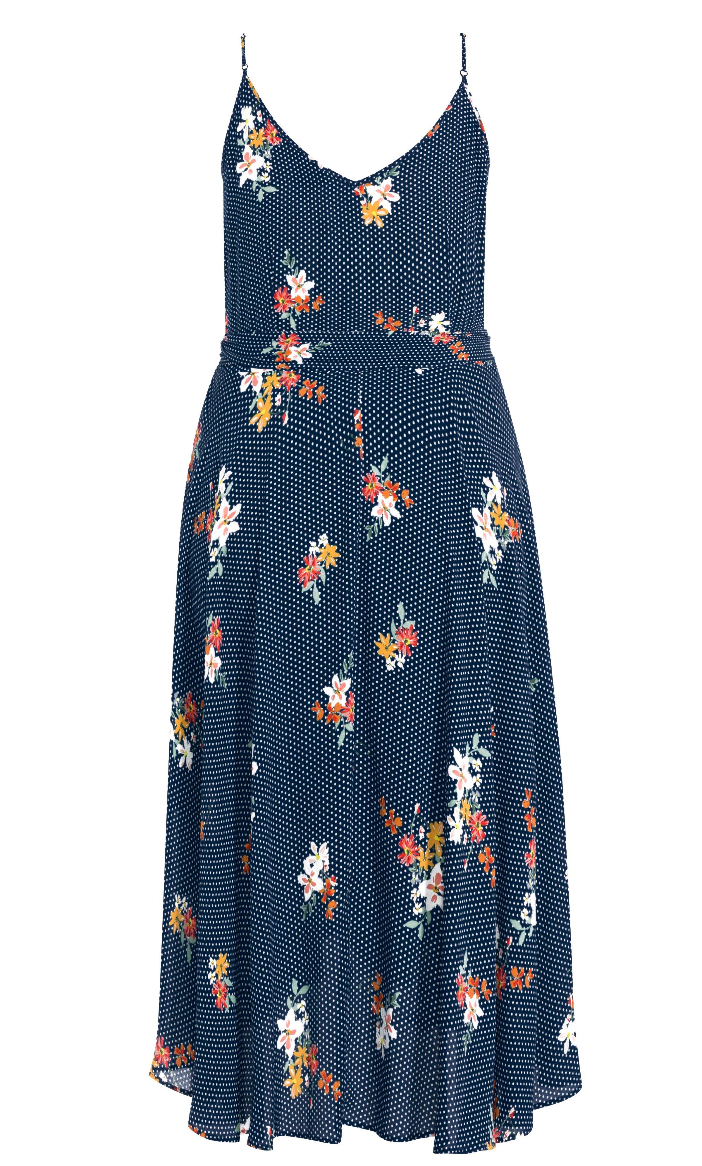 4a2a9093d2df2 ... Spot Floral Wrap Dress - Navy - Lyst. View fullscreen