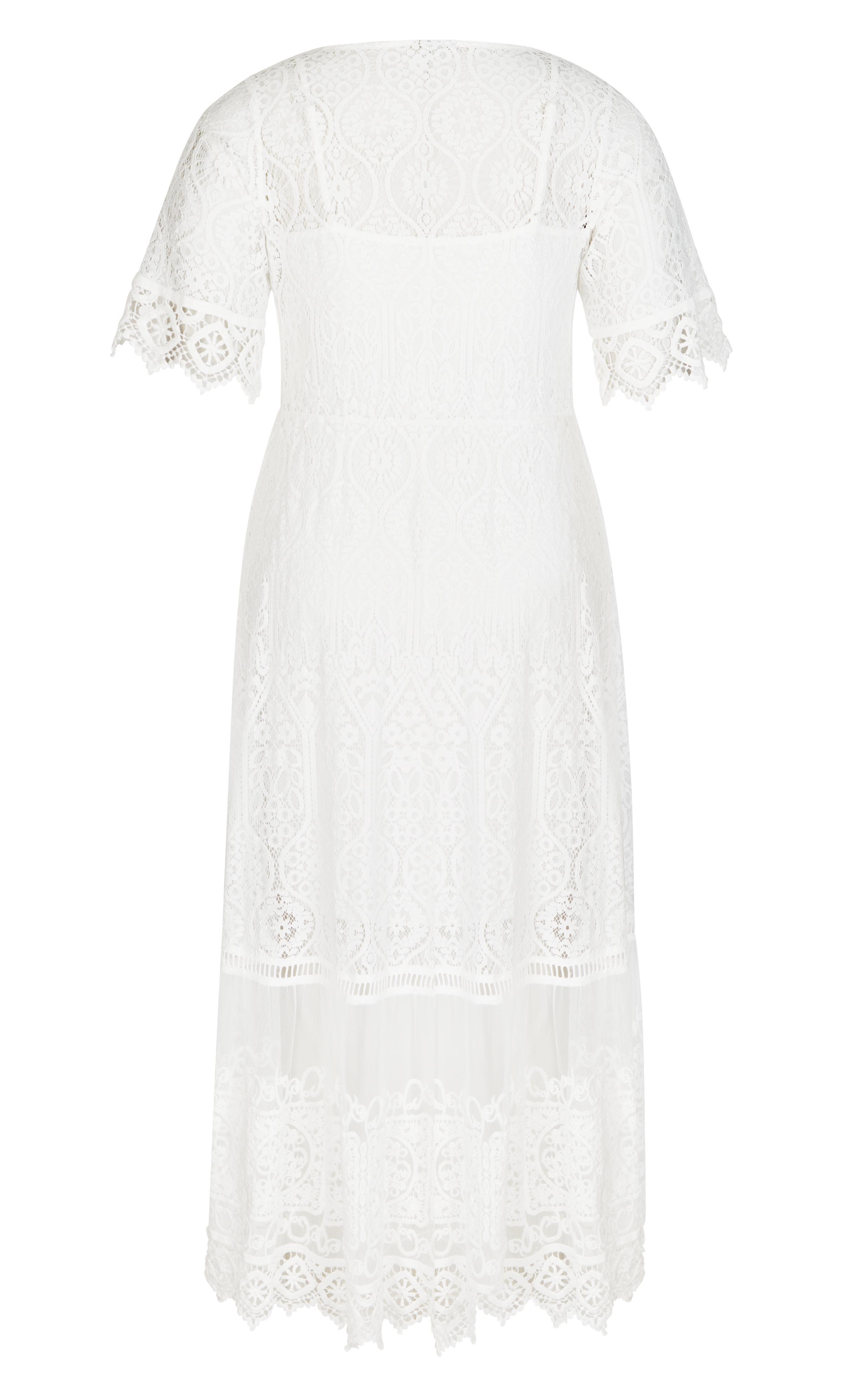 c0b125130b56 City Chic - White Ivory Summer Lace Maxi Dress - Lyst. View fullscreen