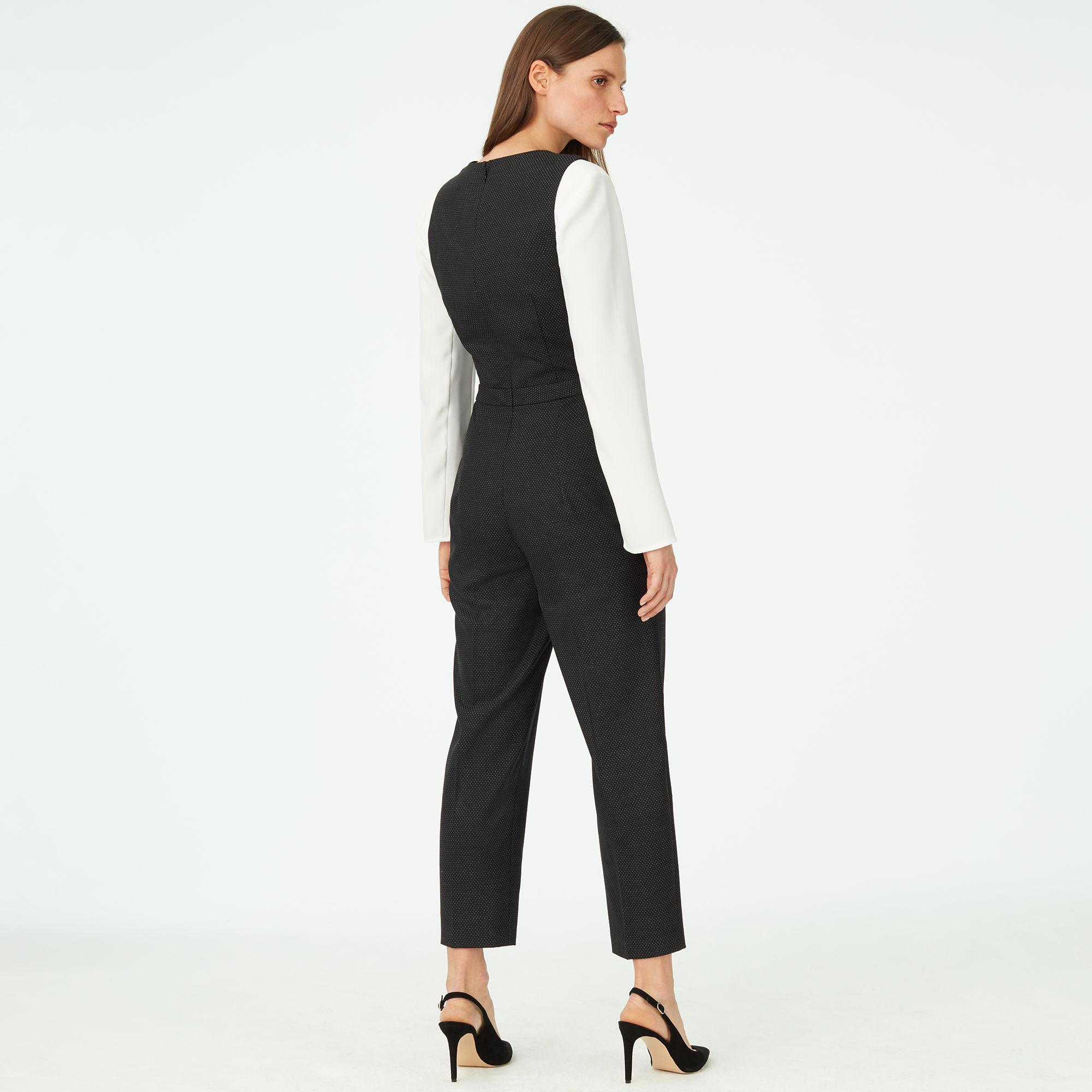 445d9b7d54bf Lyst - Club Monaco Dorotheah Pin-dot Jumpsuit in Black