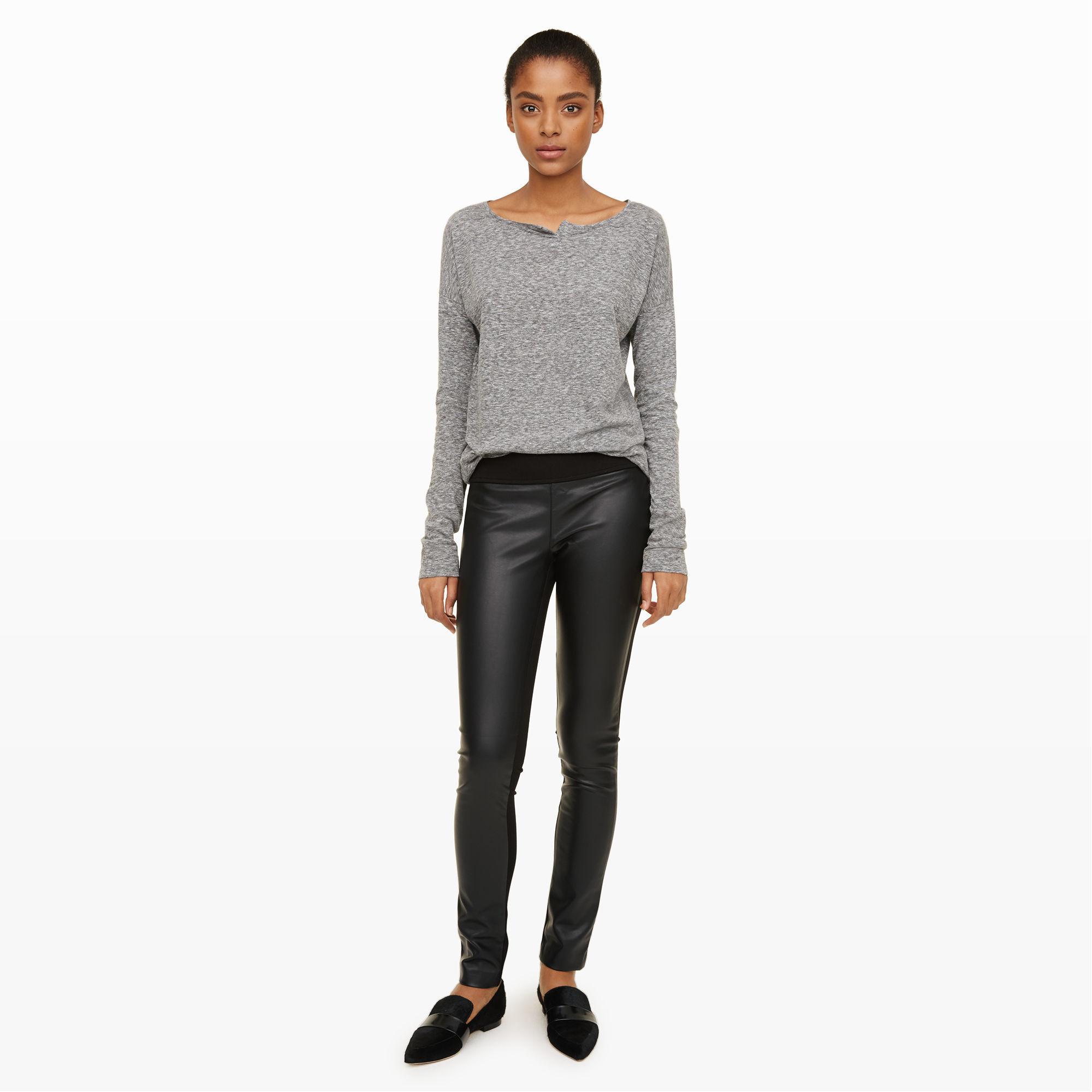 10c1a2241143c Club Monaco Tasha Faux-leather Legging in Black - Lyst