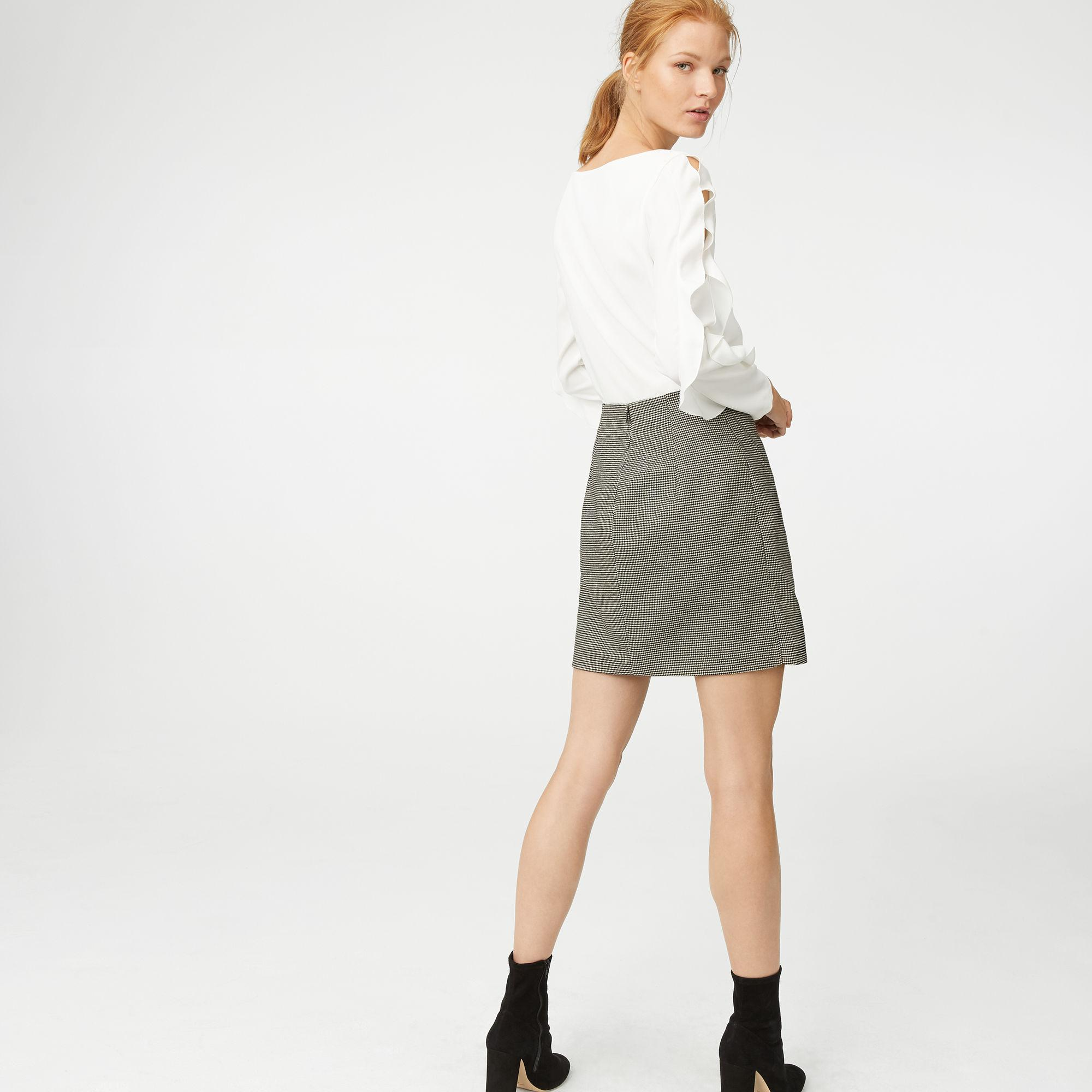 ca3906a50c Club Monaco Chavelle Flannel Skirt in White - Lyst