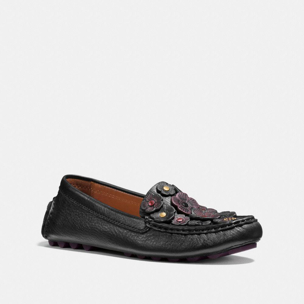 Coach CROSBY DRIVER WITH SIGNATURE CHAIN - Moccasins - black 79WrKwCYEf