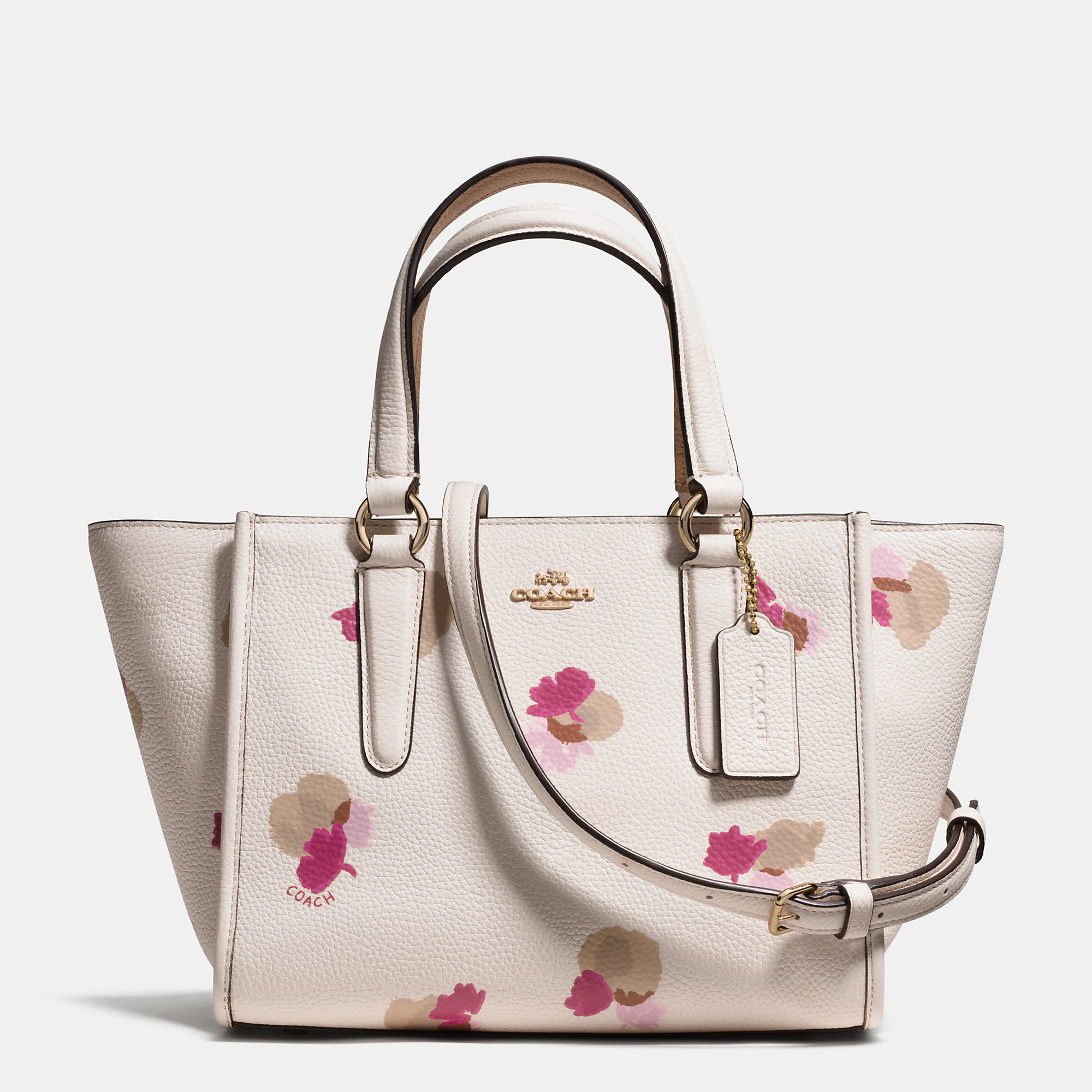 Lyst Coach Mini Crosby Carryall In Floral Print Pebble Leather