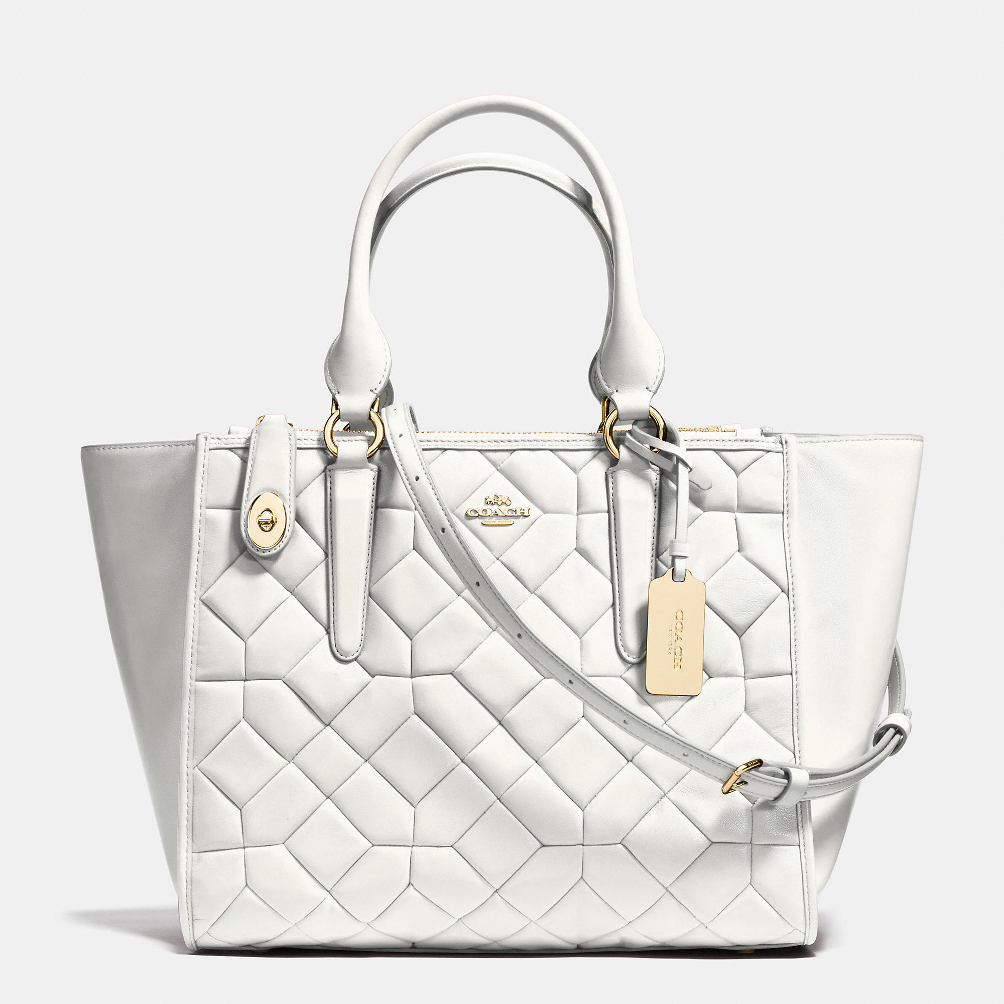 Lyst - COACH Crosby Carryall In Canyon Quilt Leather 8890ccc772